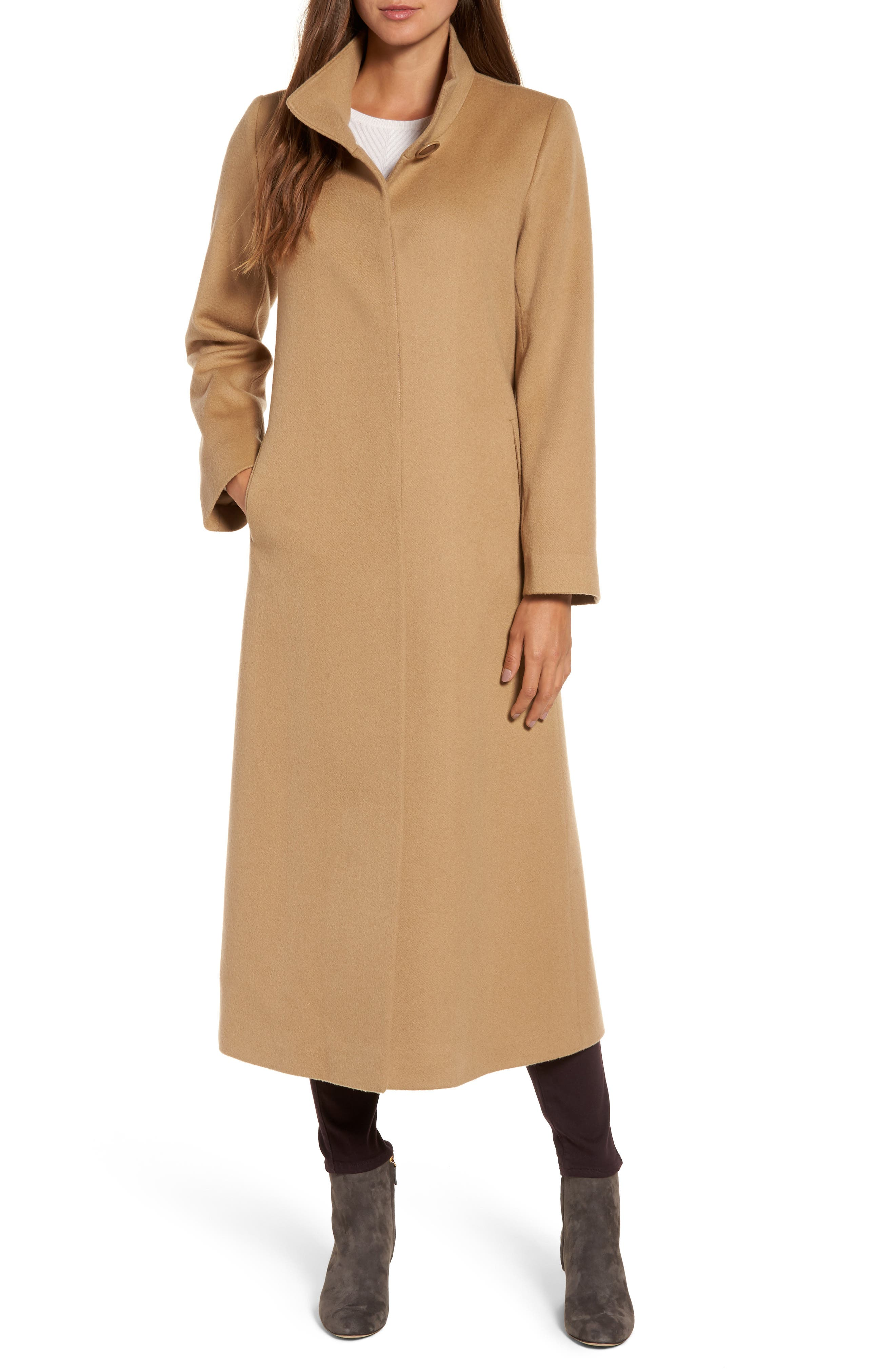 Alternate Image 1 Selected - Fleurette Cashmere Long Coat