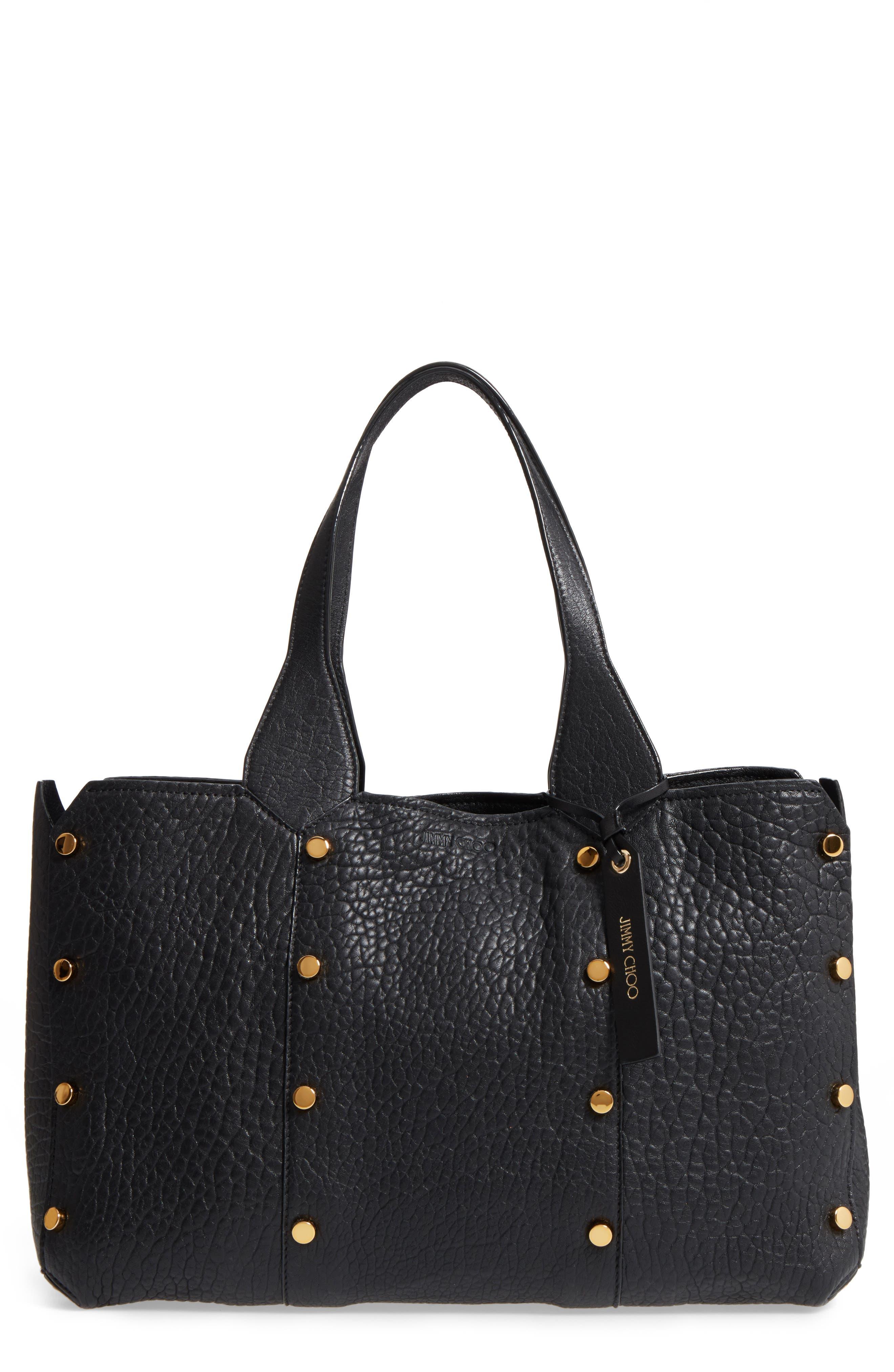Lockett Leather Shopper,                         Main,                         color, Black