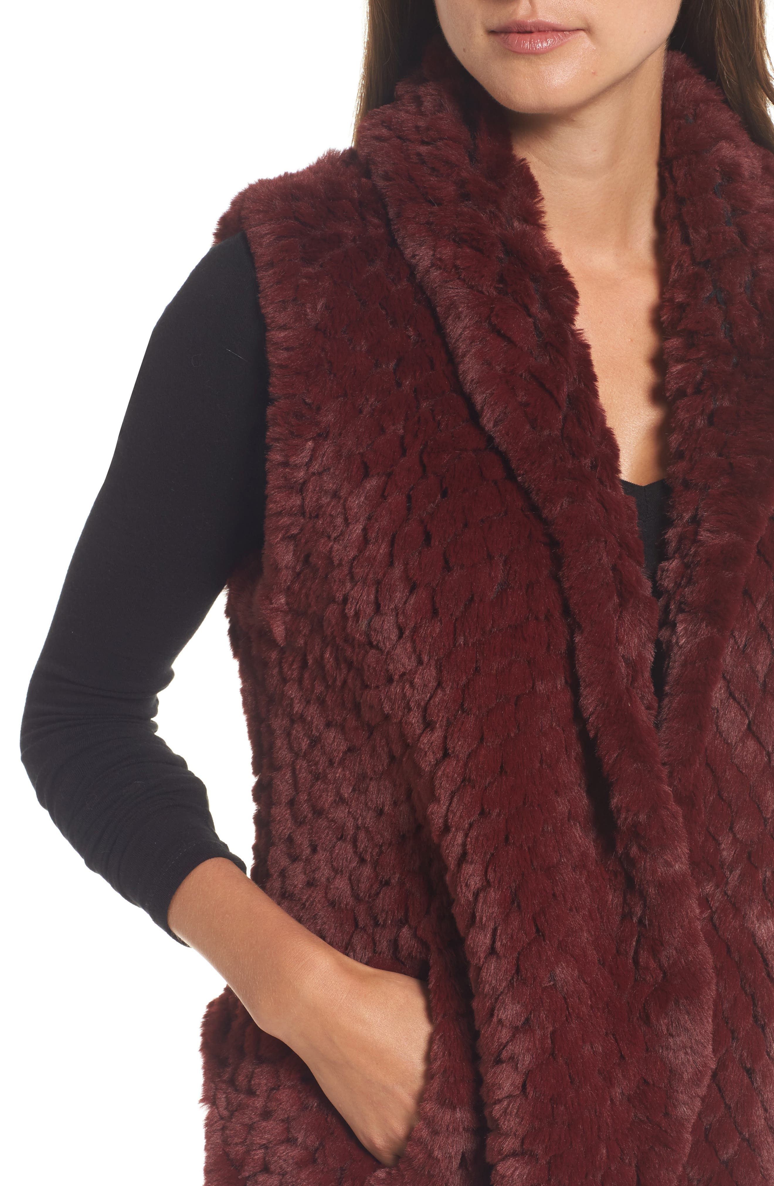 Alternate Image 4  - Love Token Faux Fur Vest