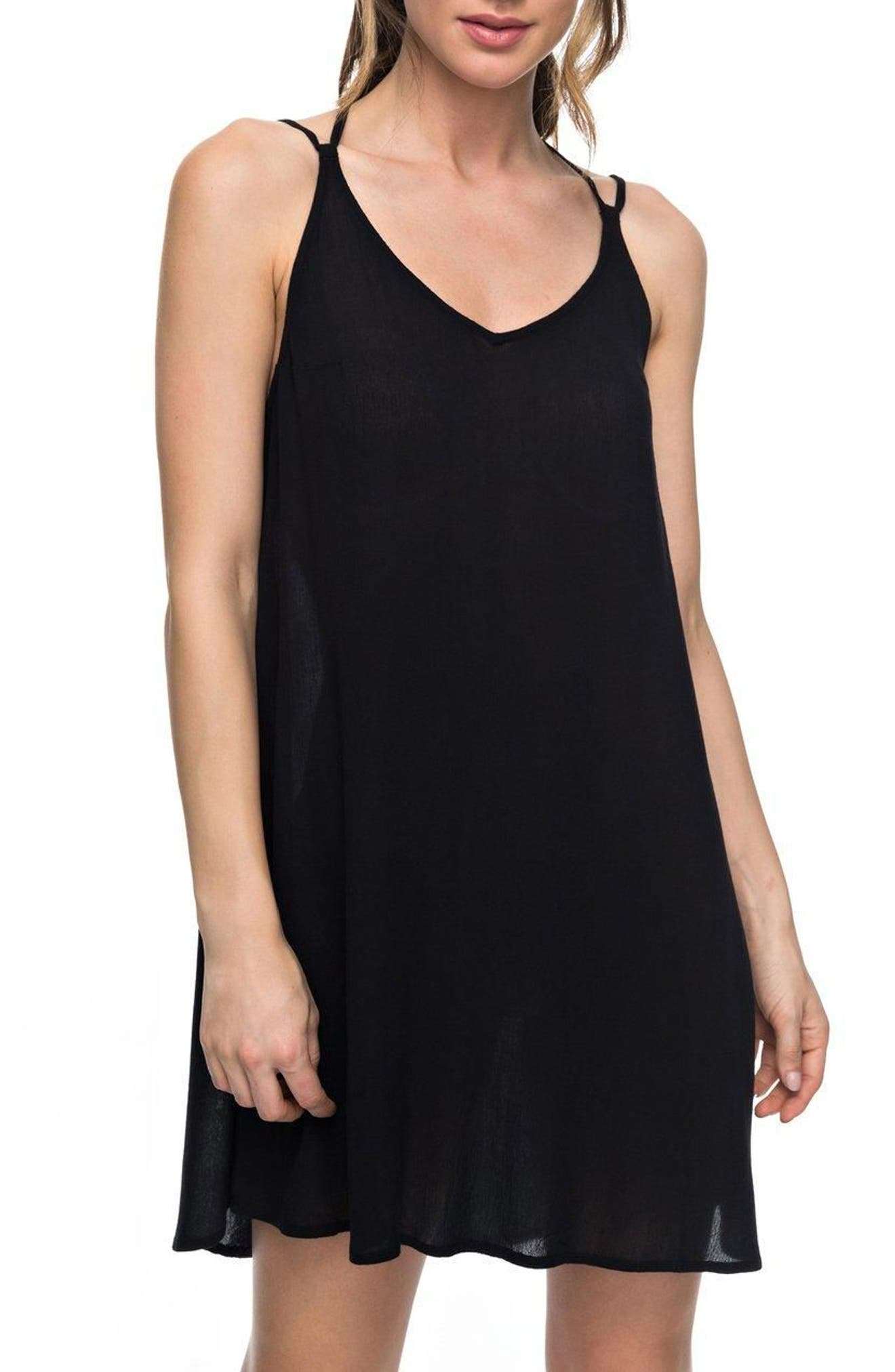 Dome of Amalfi Strappy Camisole Dress,                         Main,                         color, Black