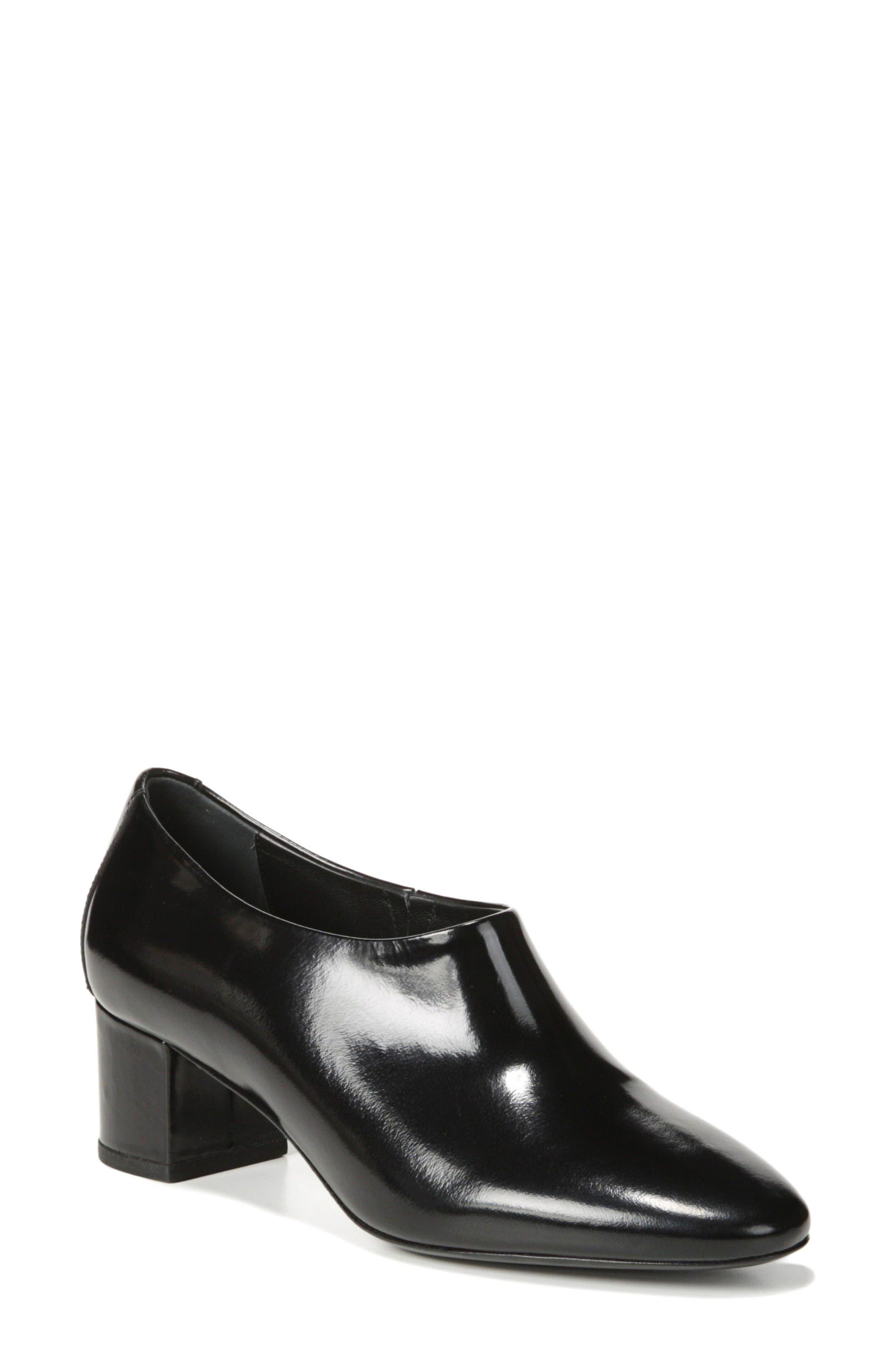 Josie Pump,                             Main thumbnail 1, color,                             Black Leather