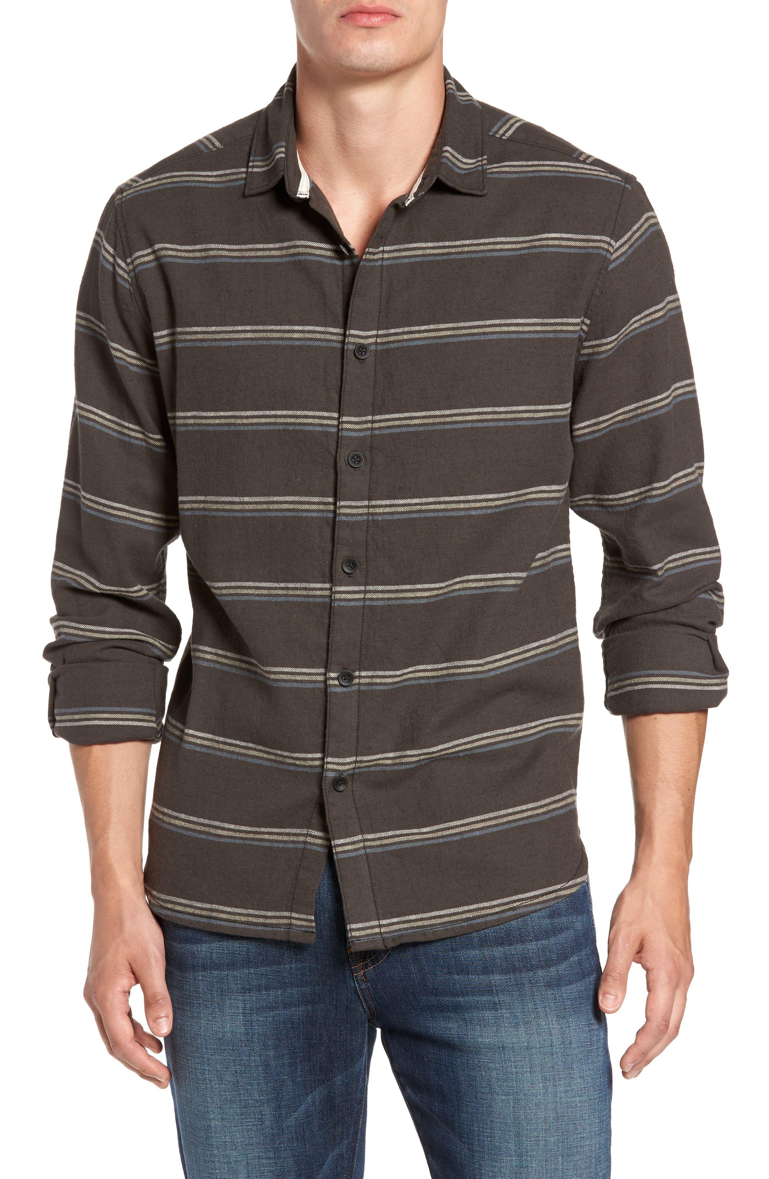 McKinley Stripe Shirt,                             Main thumbnail 1, color,                             Blackstone