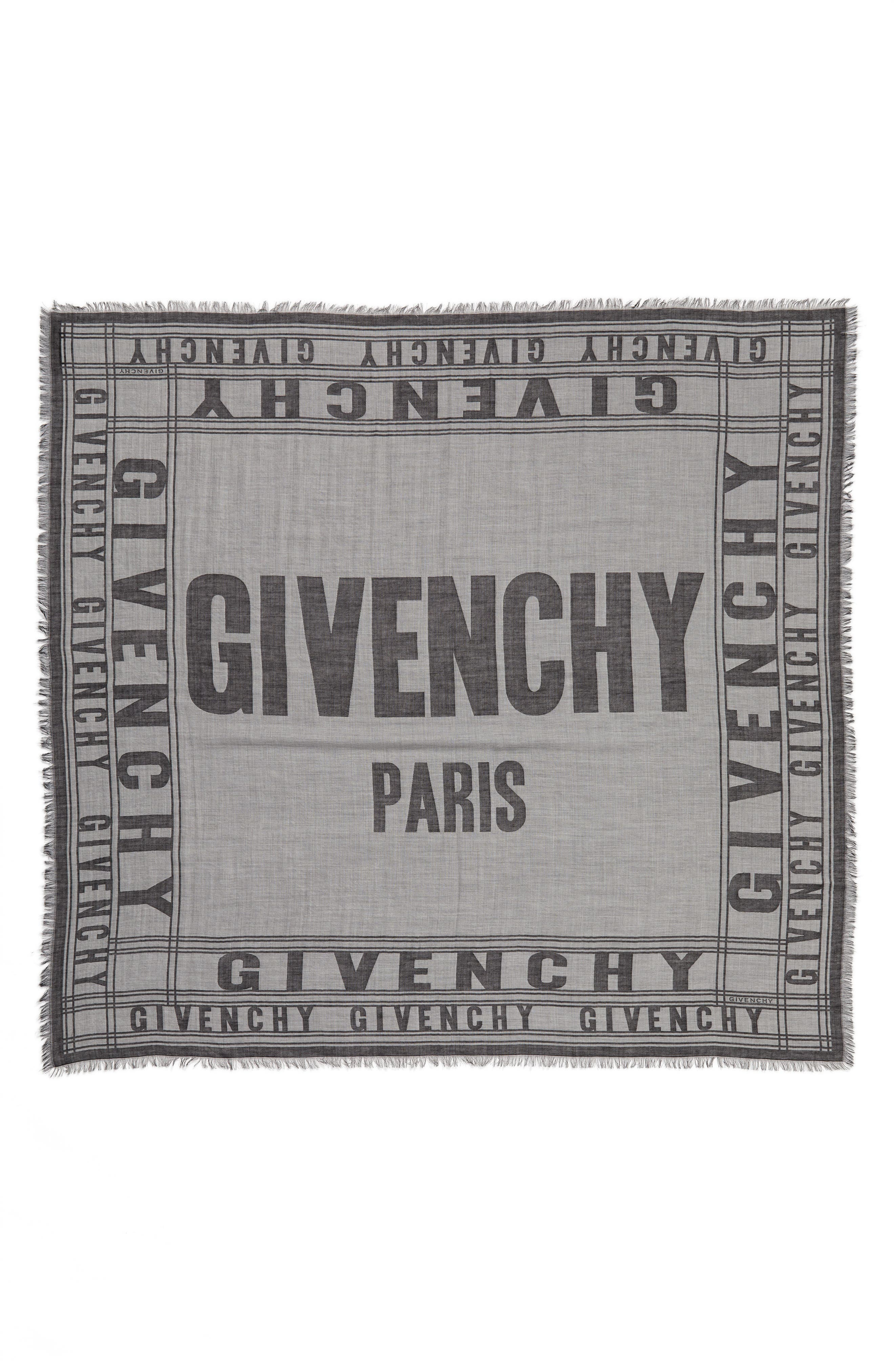 Logo Scarf,                         Main,                         color, Grey/ Black
