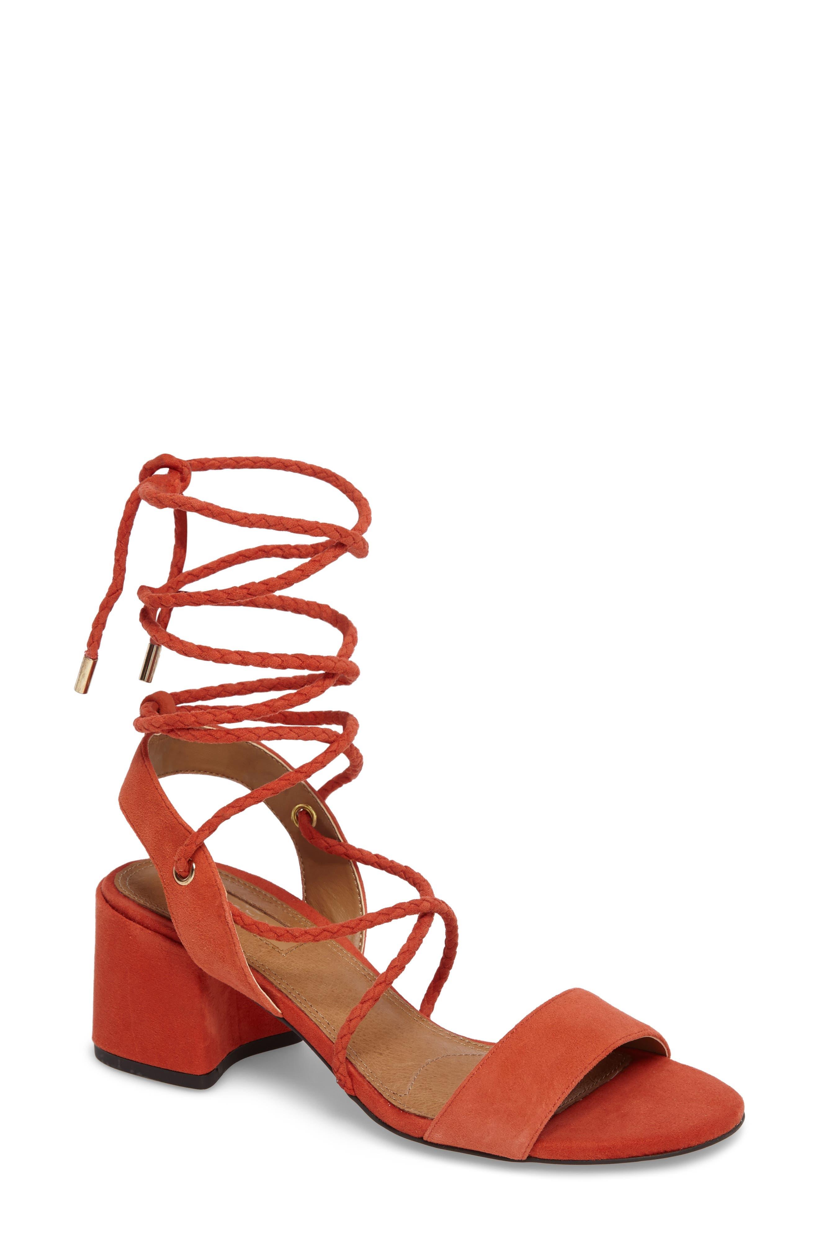 Topshop Nevada Lace-Up Sandal (Women)