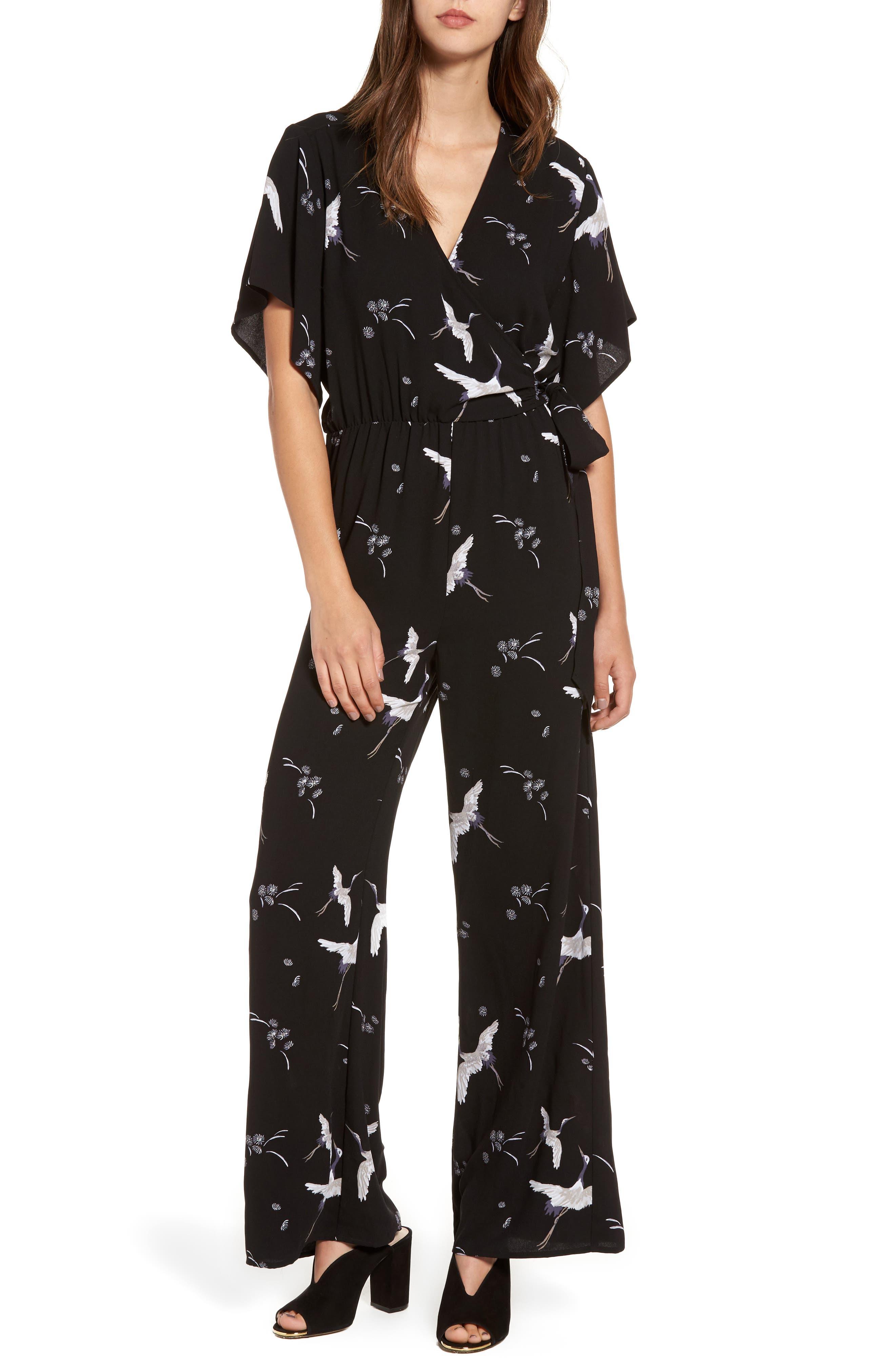 Alternate Image 1 Selected - Leith Kimono Wrap Jumpsuit
