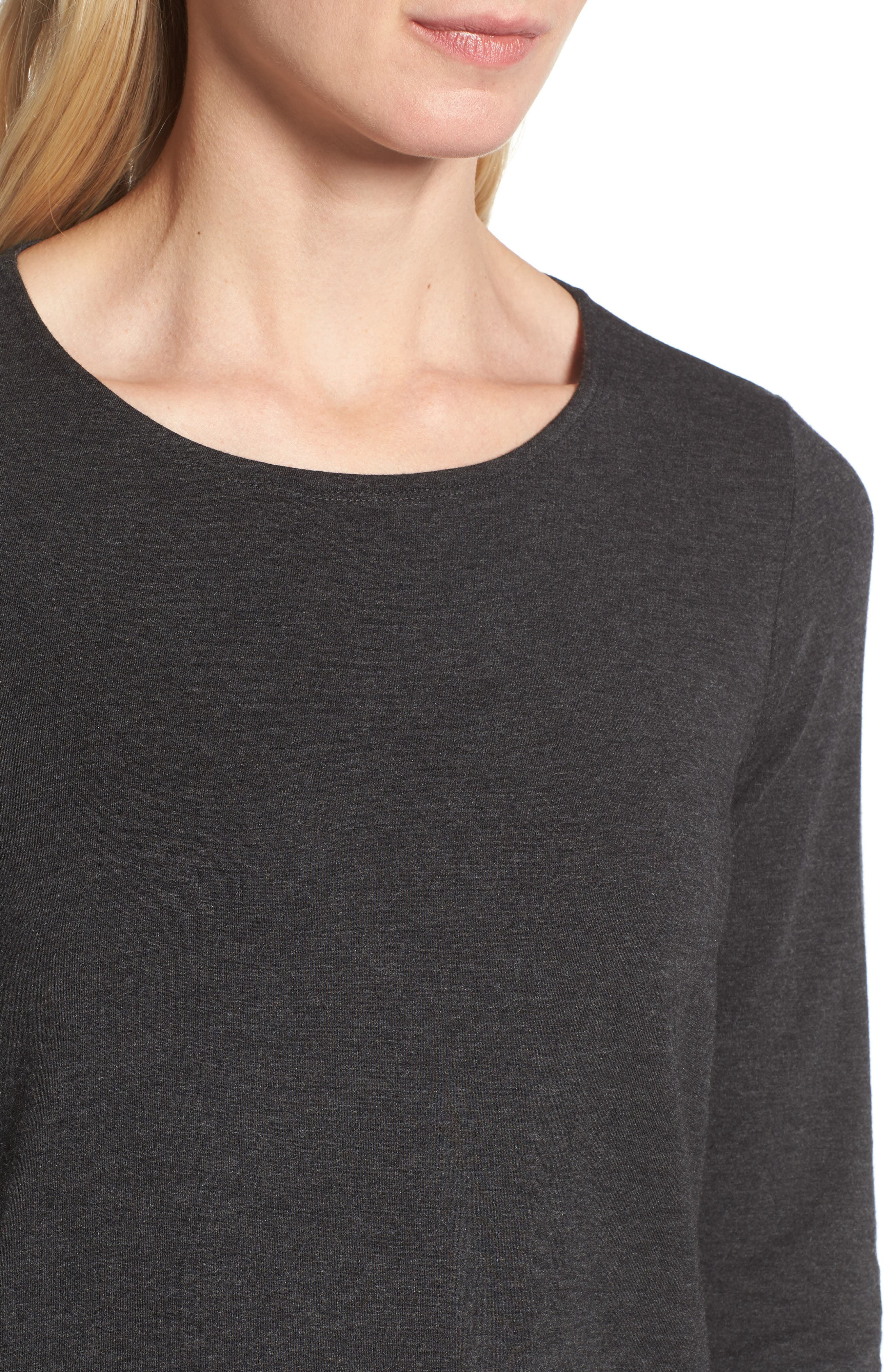 Alternate Image 4  - Eileen Fisher Stretch Tencel® Top