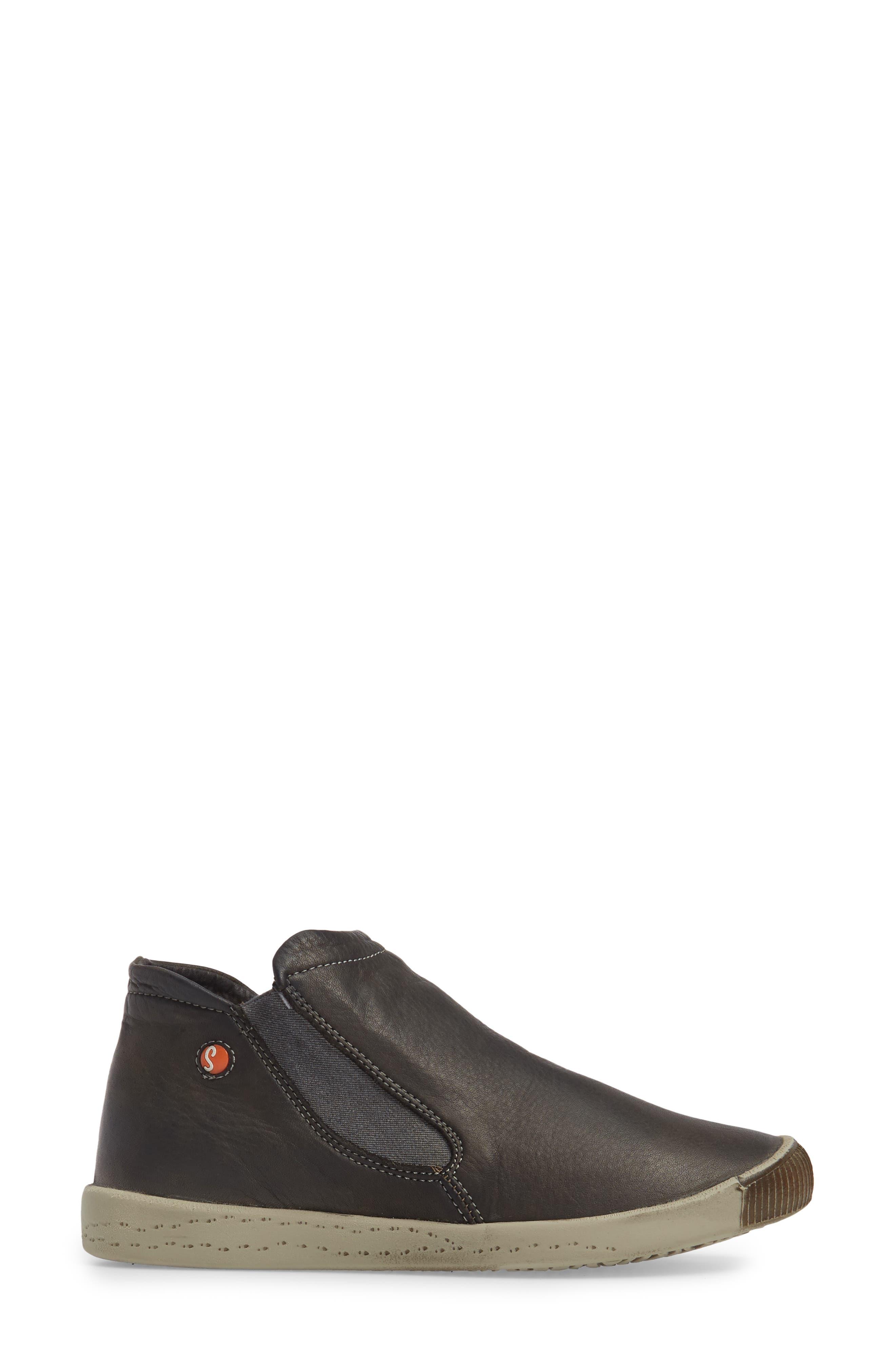Inge Slip-On Sneaker,                             Alternate thumbnail 3, color,                             Military Leather