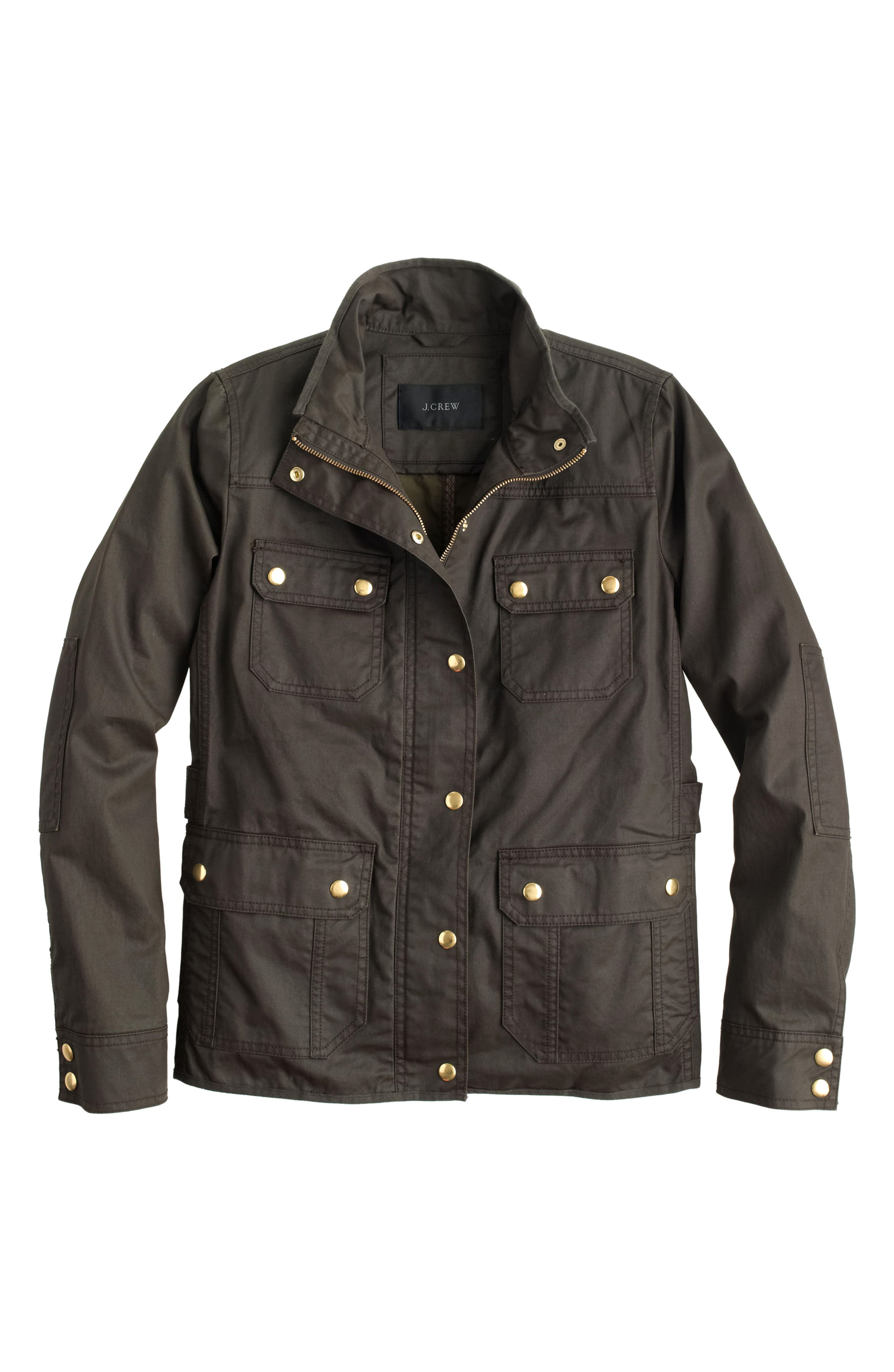 J.Crew Downtown Field Jacket,                             Alternate thumbnail 3, color,                             Mossy Brown