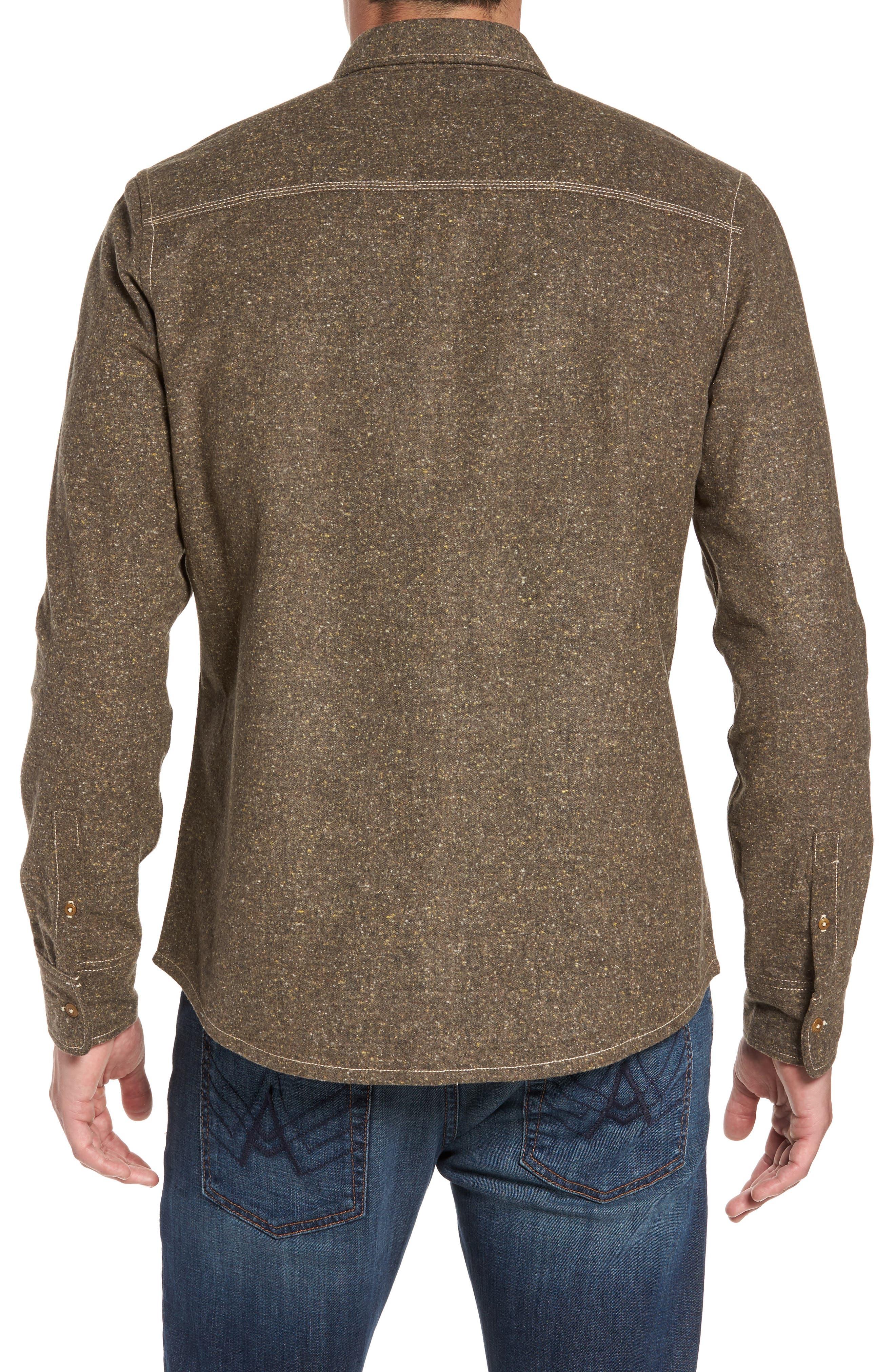 Utah Nep Heather Flannel Shirt,                             Alternate thumbnail 2, color,                             Mole Heather