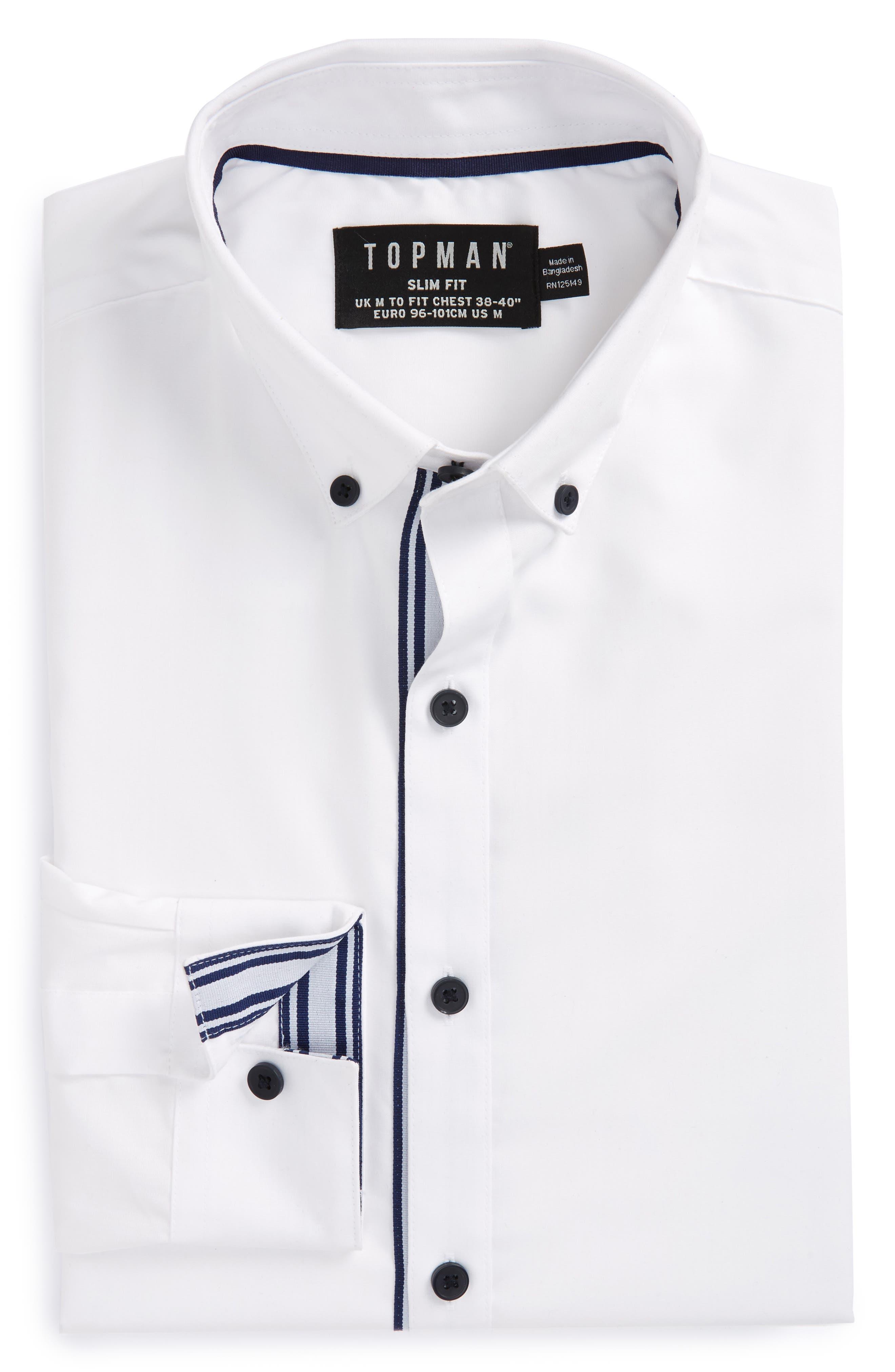 Topman Slim Fit Taped Shirt