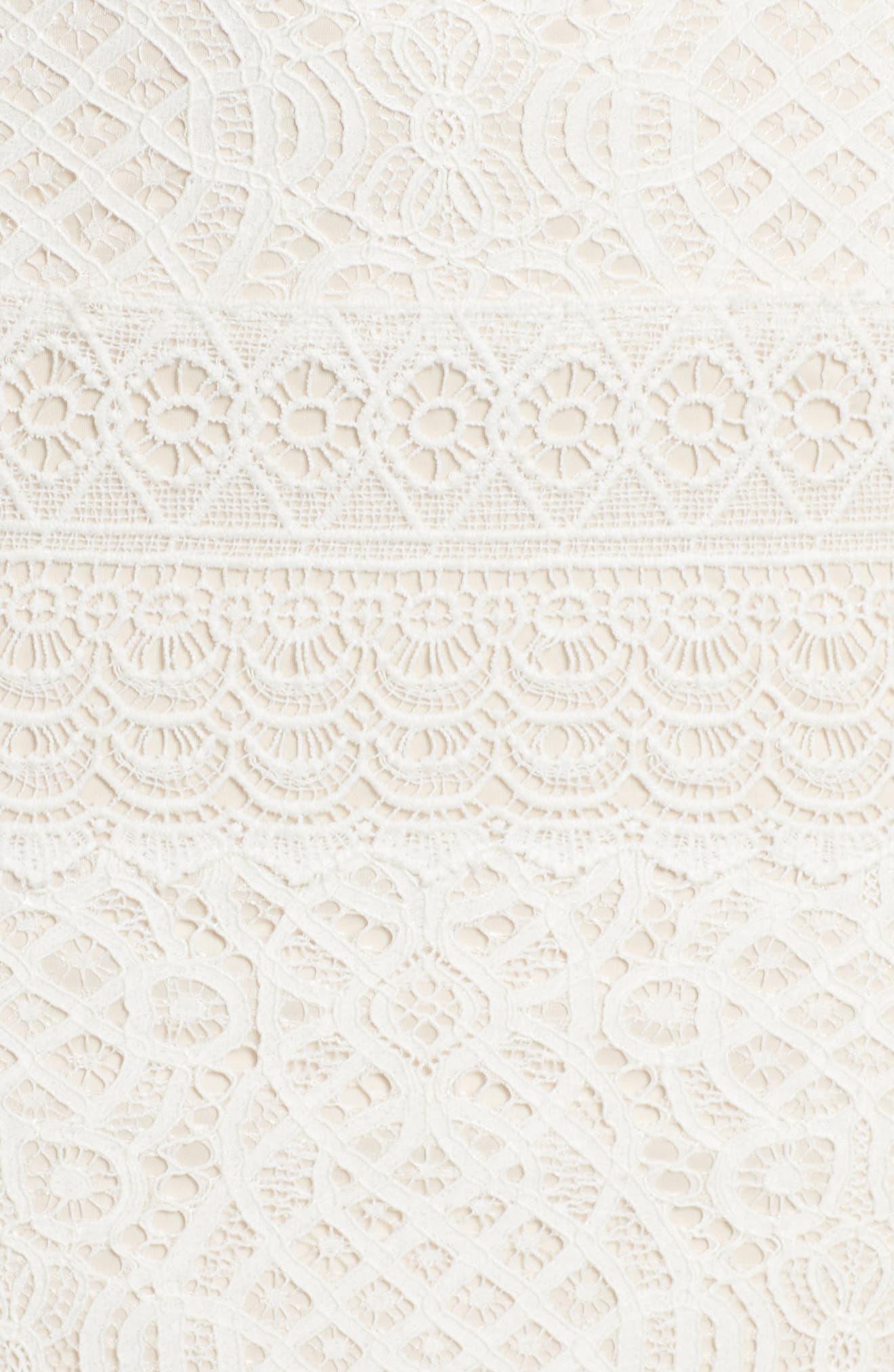 Alternate Image 5  - Tadashi Shoji Off the Shoulder Crochet Gown