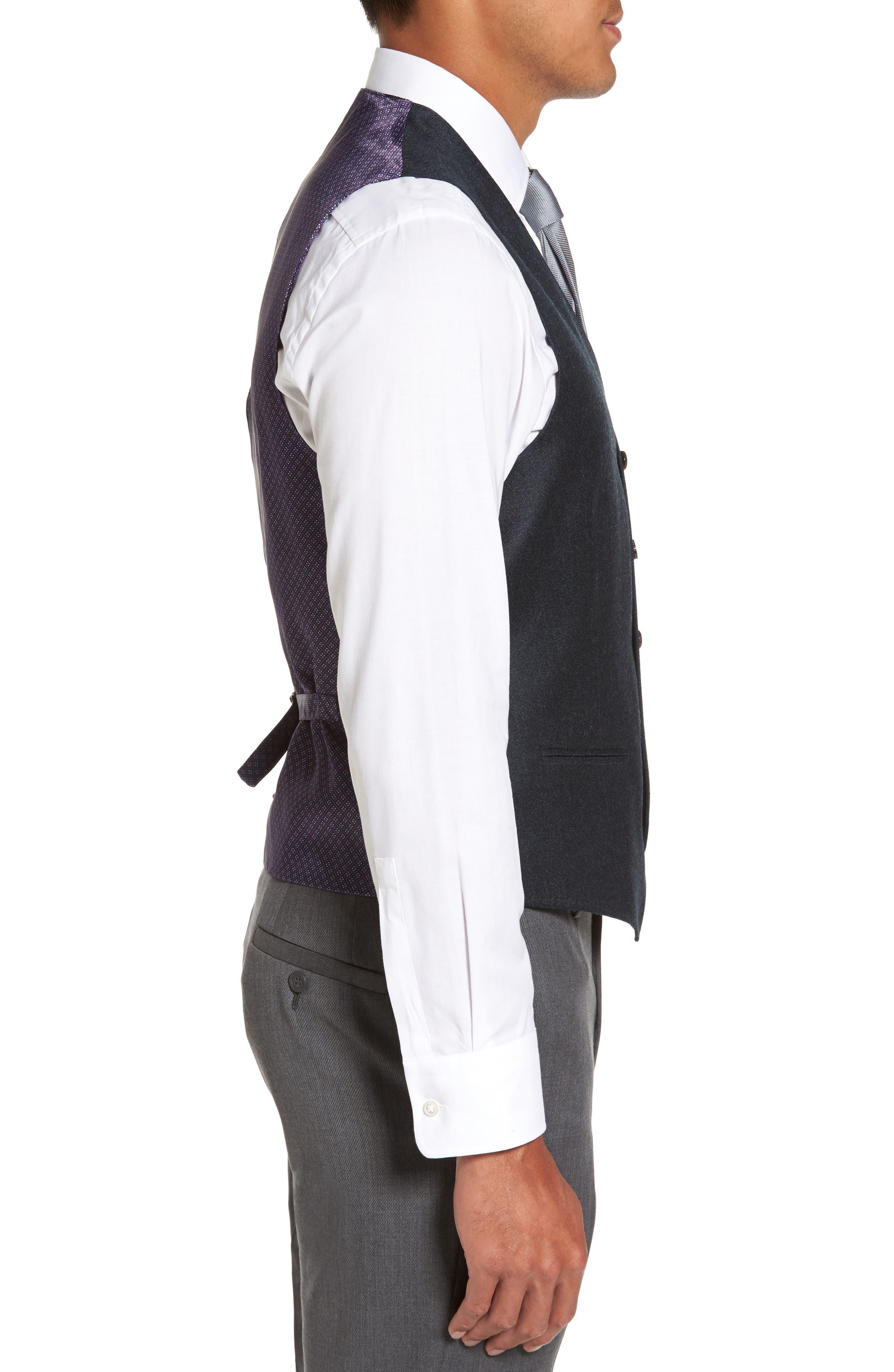 Alternate Image 3  - Ted Baker London Troy Trim Fit Solid Wool Vest