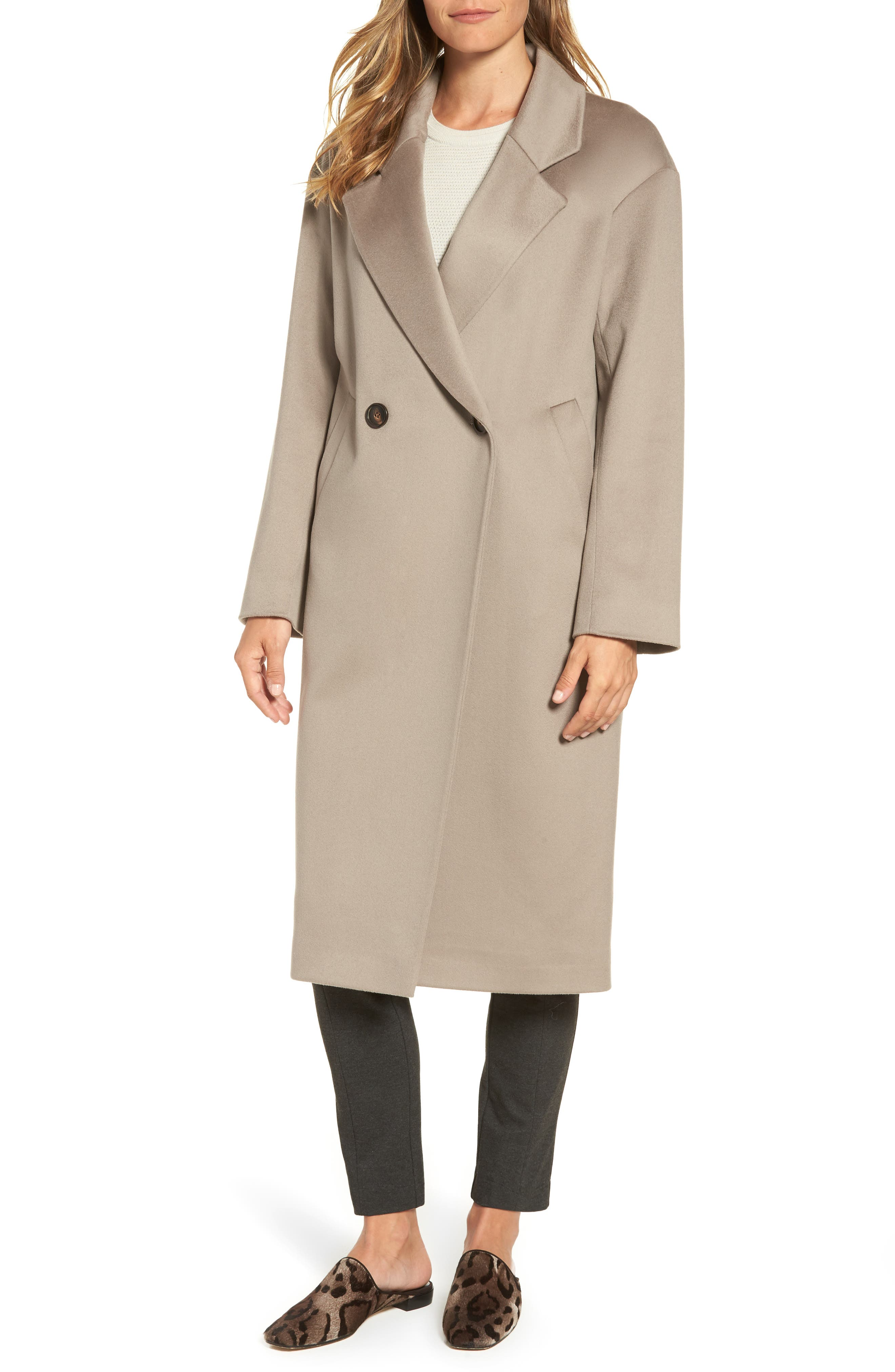45 Loro Piana Wool Coat,                         Main,                         color, Taupe