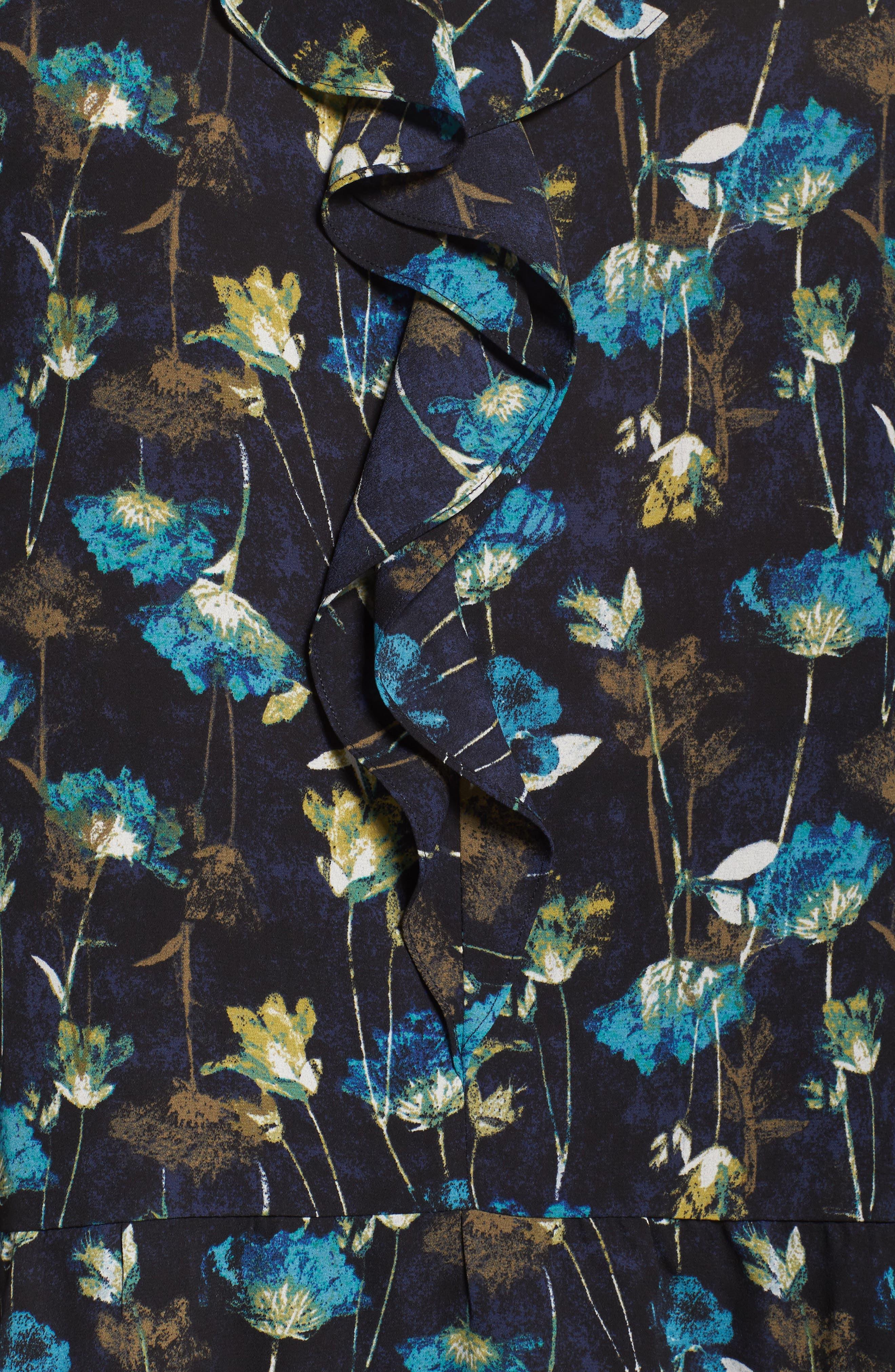 Alternate Image 6  - Sejour Ruffle V-Neck Tunic (Plus Size)
