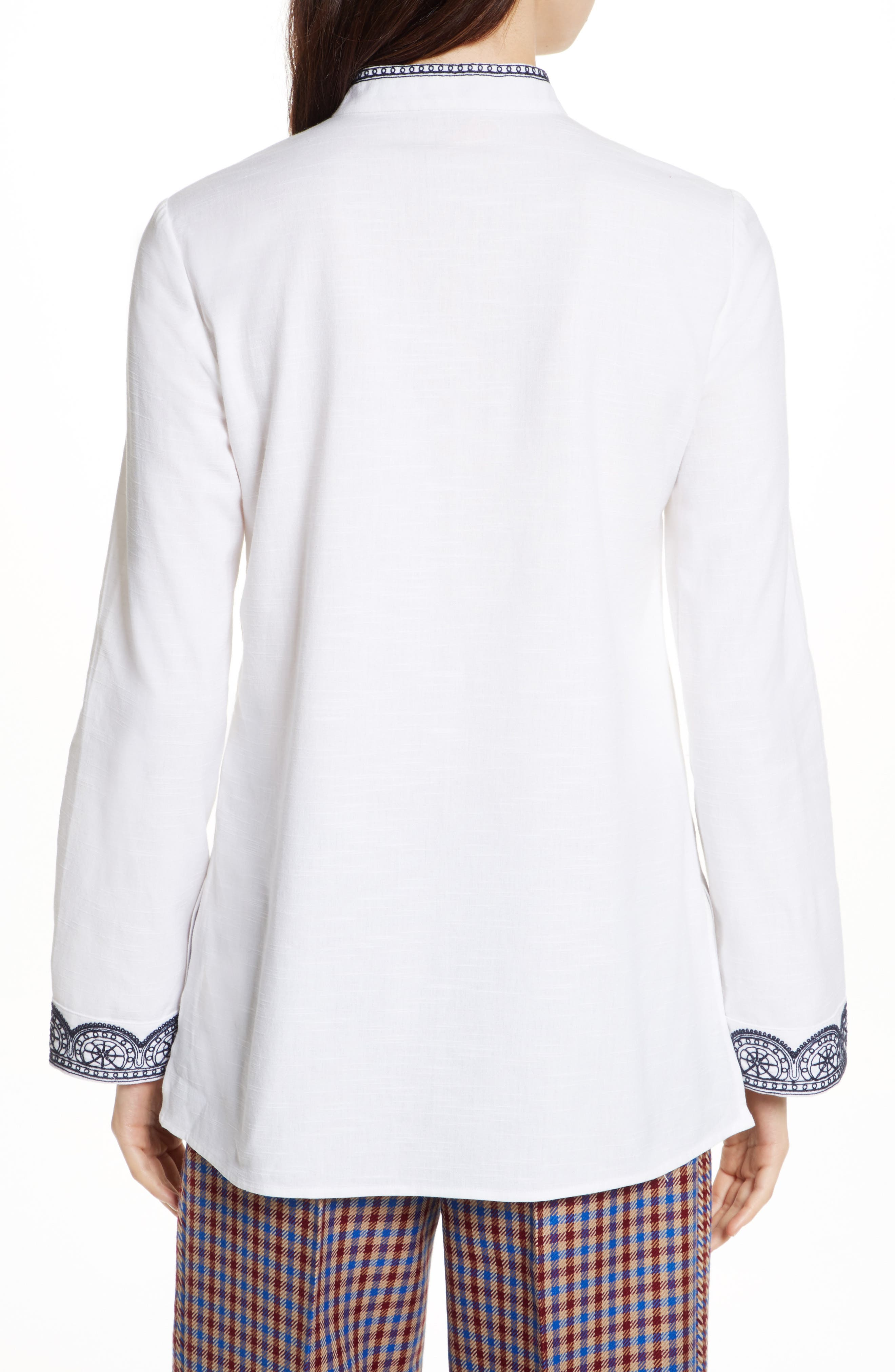 Embellished Tunic,                             Alternate thumbnail 2, color,                             White