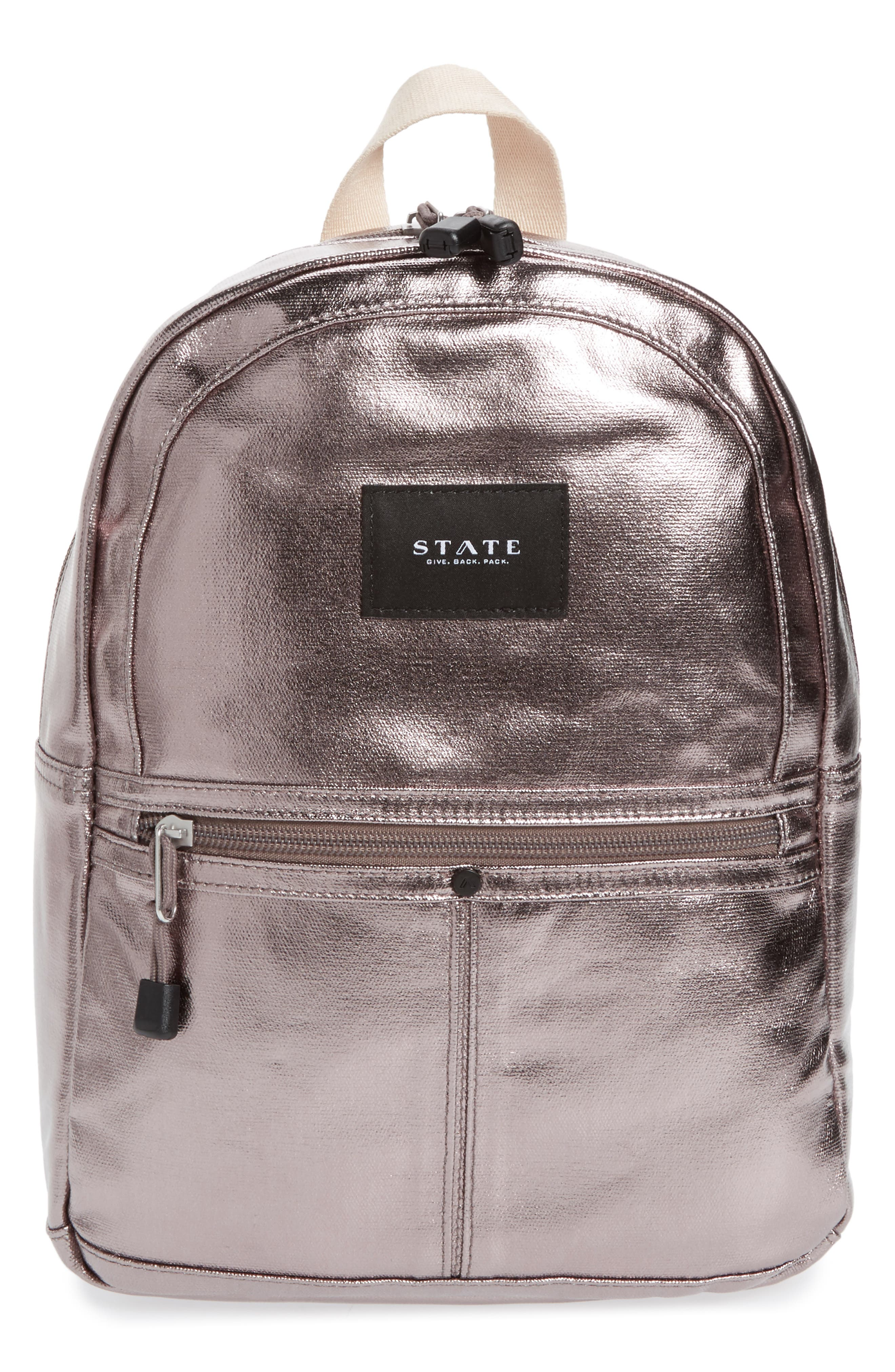 Mini Kane Backpack,                             Main thumbnail 1, color,                             Chrome
