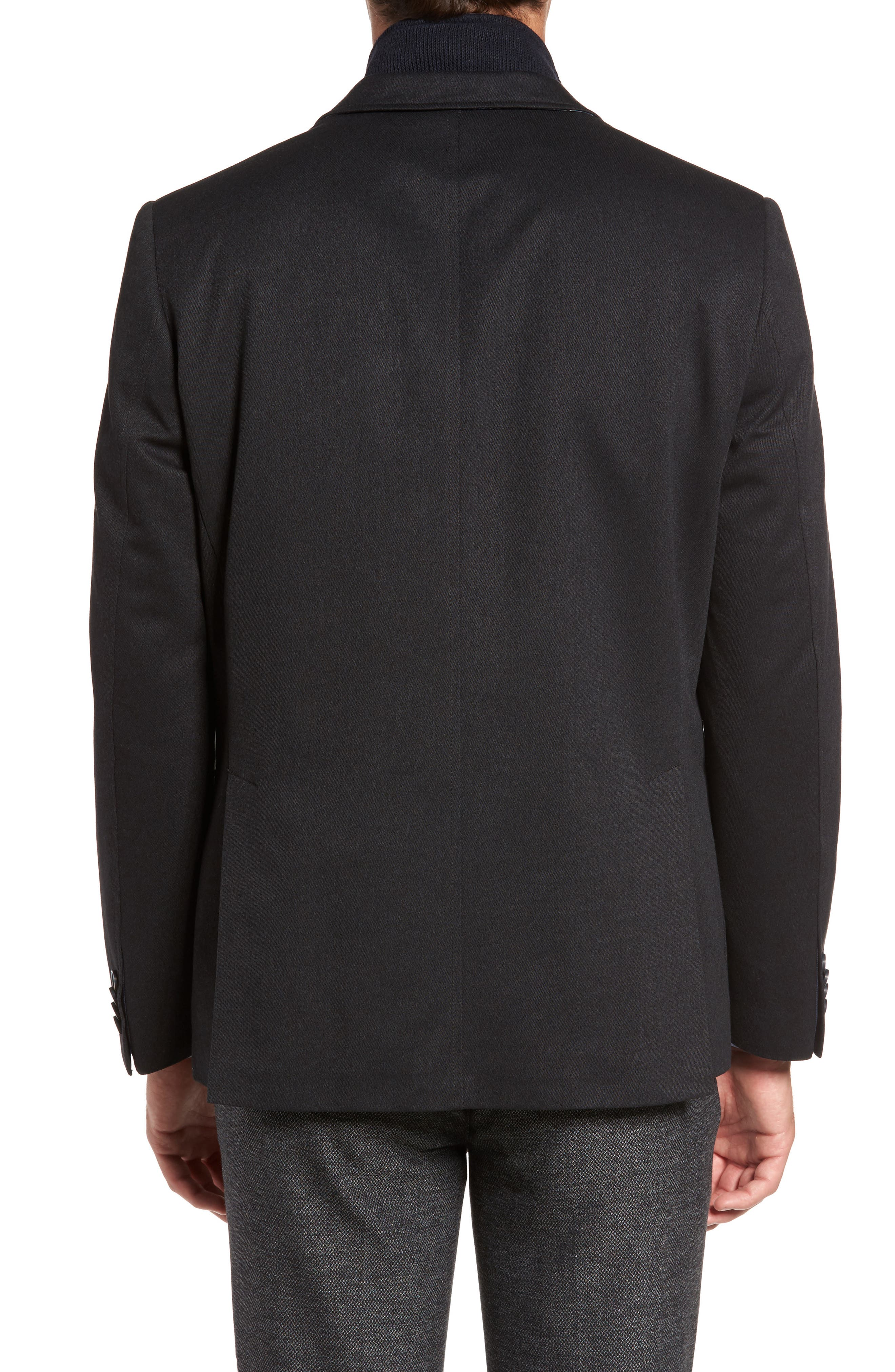 Broderick Technical Outerwear Jacket with Detachable Knit Bib,                             Alternate thumbnail 2, color,                             Navy