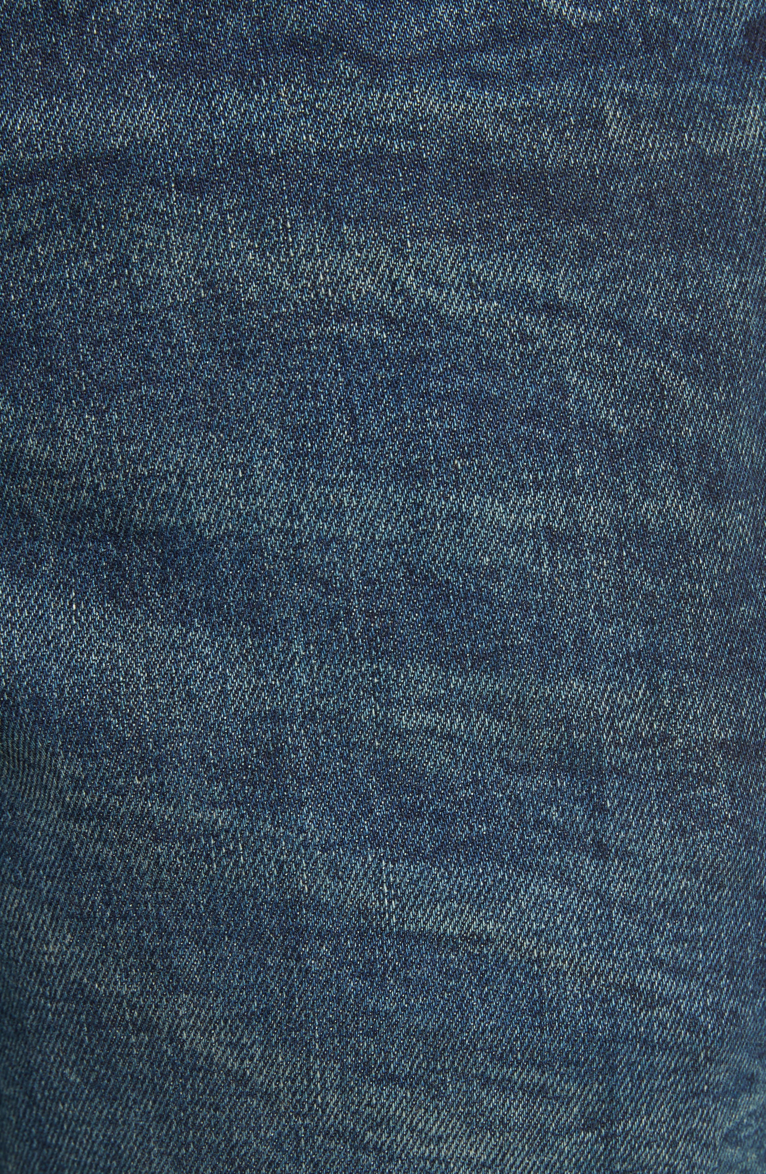 Moto Jeans,                             Alternate thumbnail 5, color,                             Indigo Blue