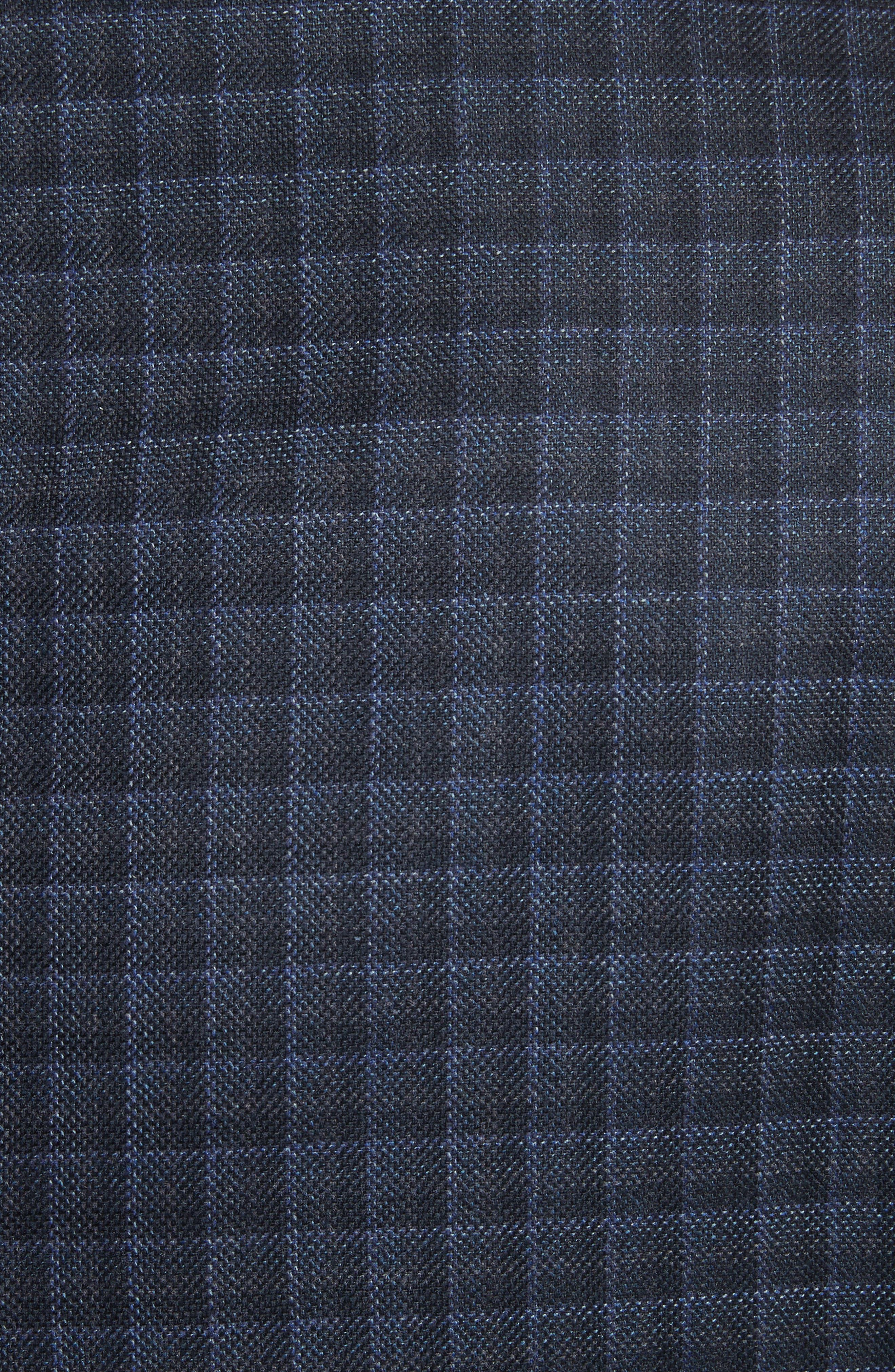 Alternate Image 5  - Armani Collezioni G-Line Trim Fit Check Silk & Wool Sport Coat
