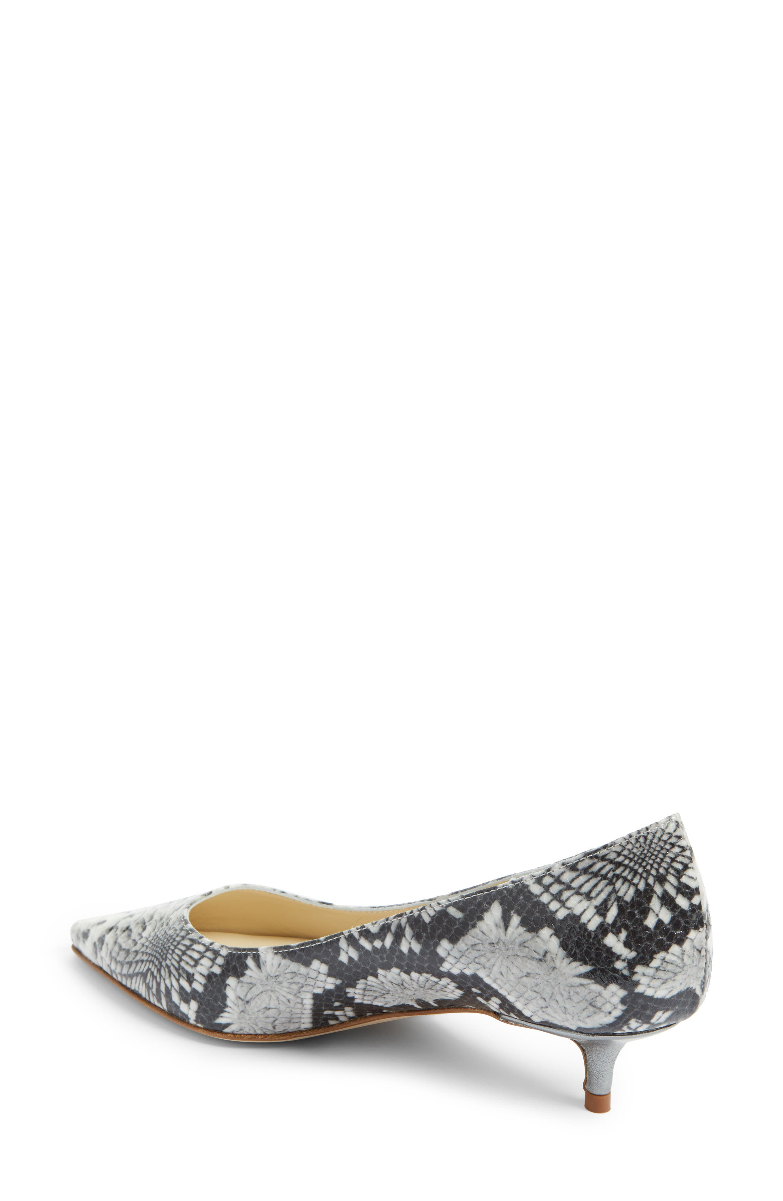 Butter Born Pointy Toe Pump,                             Alternate thumbnail 2, color,                             Black/ White Aztec