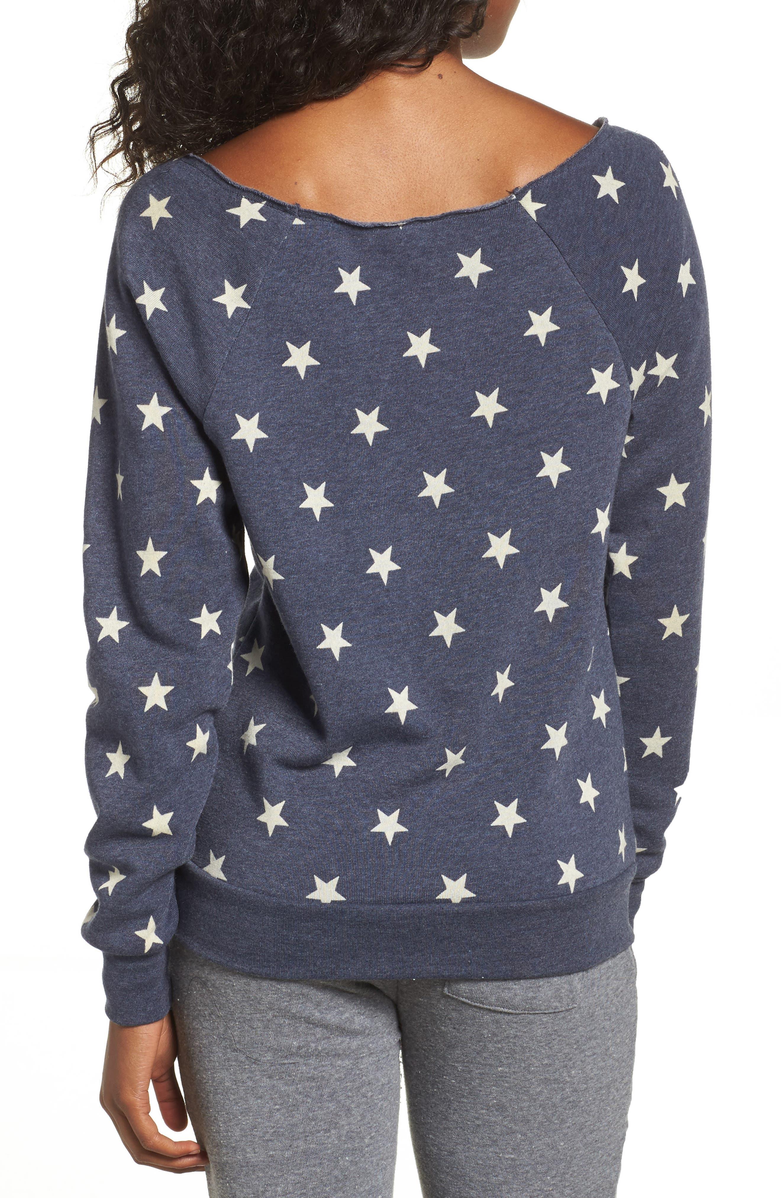 Maniac Camo Fleece Sweatshirt,                             Alternate thumbnail 2, color,                             Stars