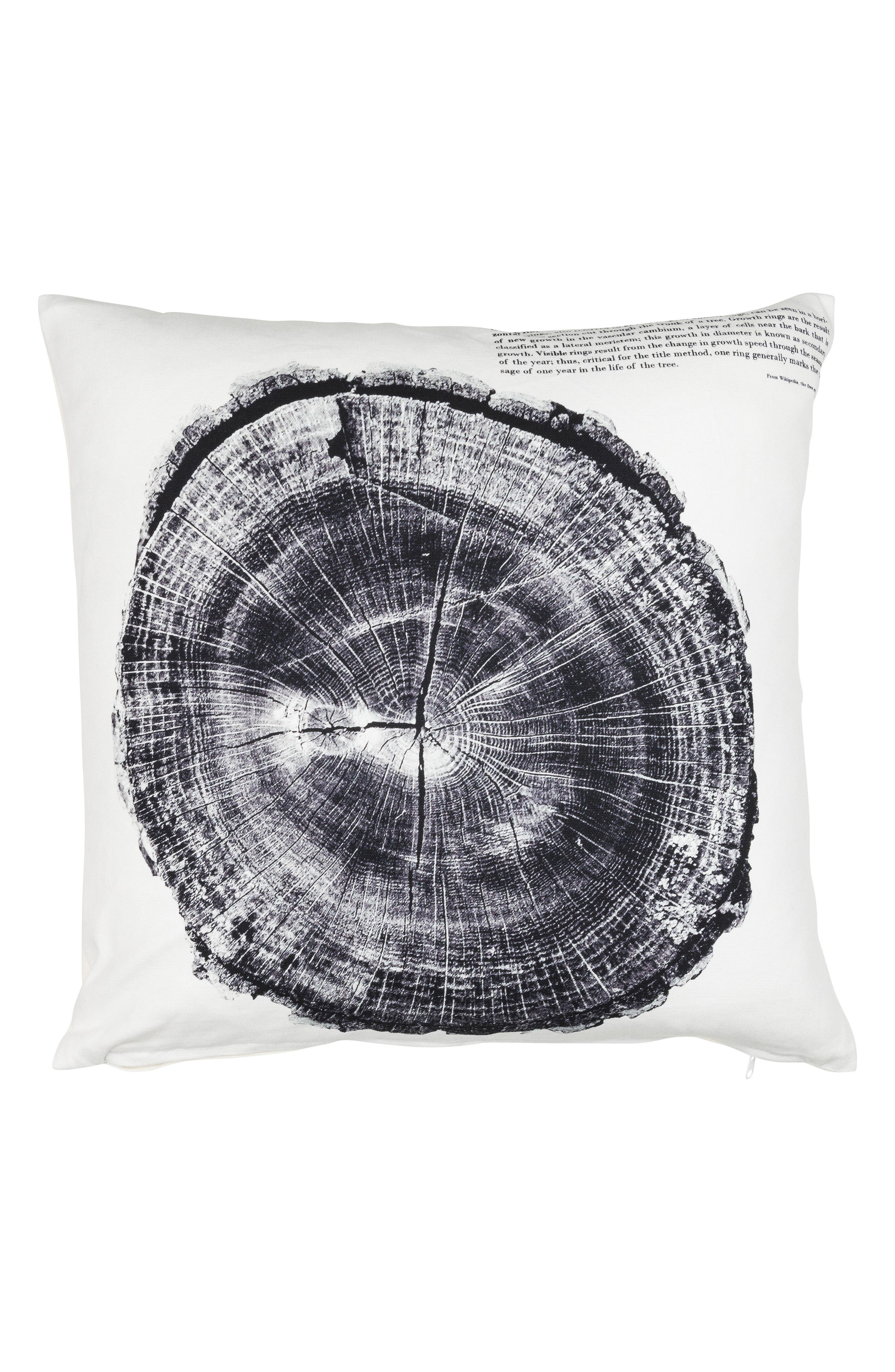 Eightmood Woodcut Accent Pillow