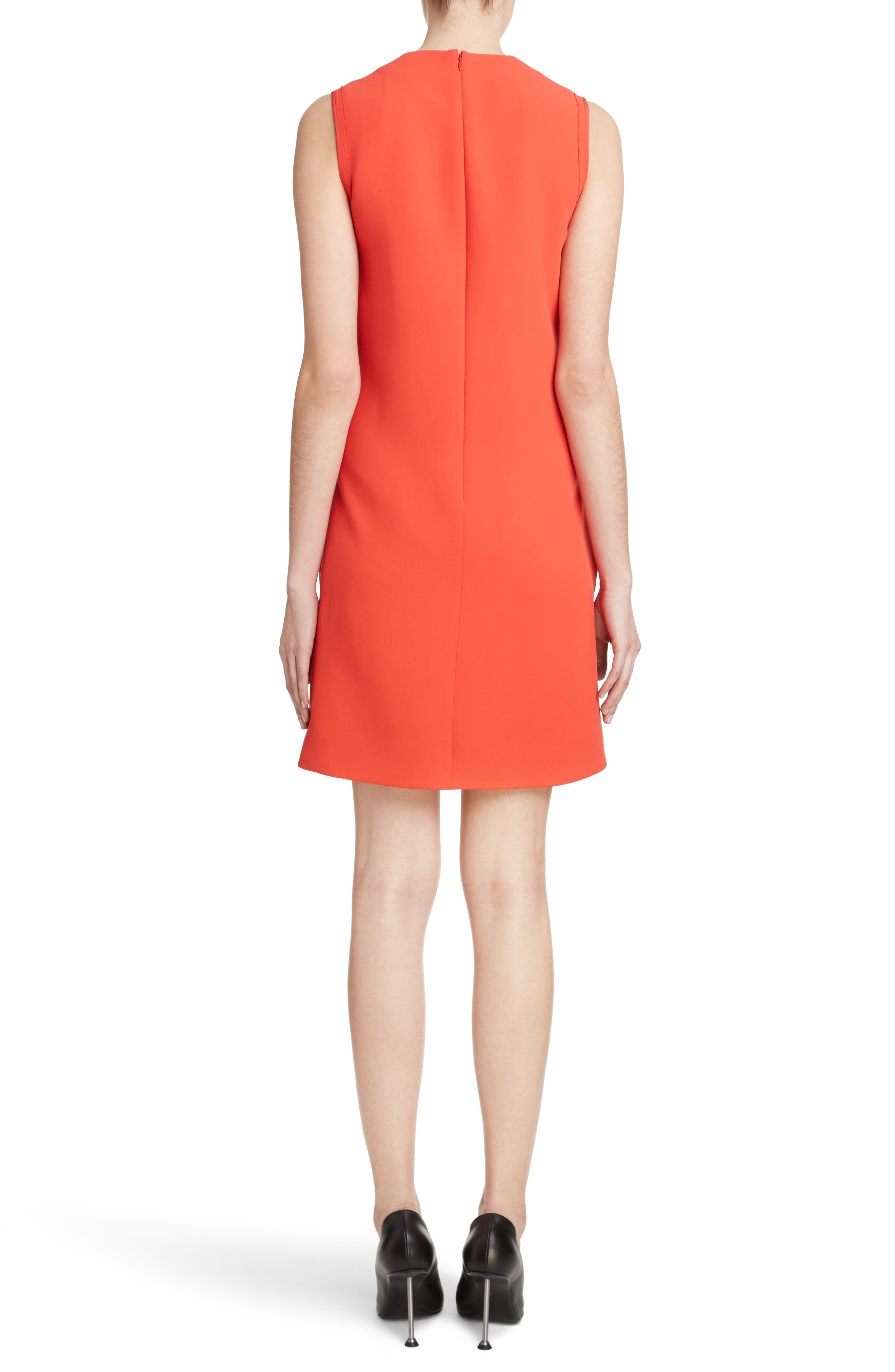 Knot Front Dress,                             Alternate thumbnail 2, color,                             Postbox Red