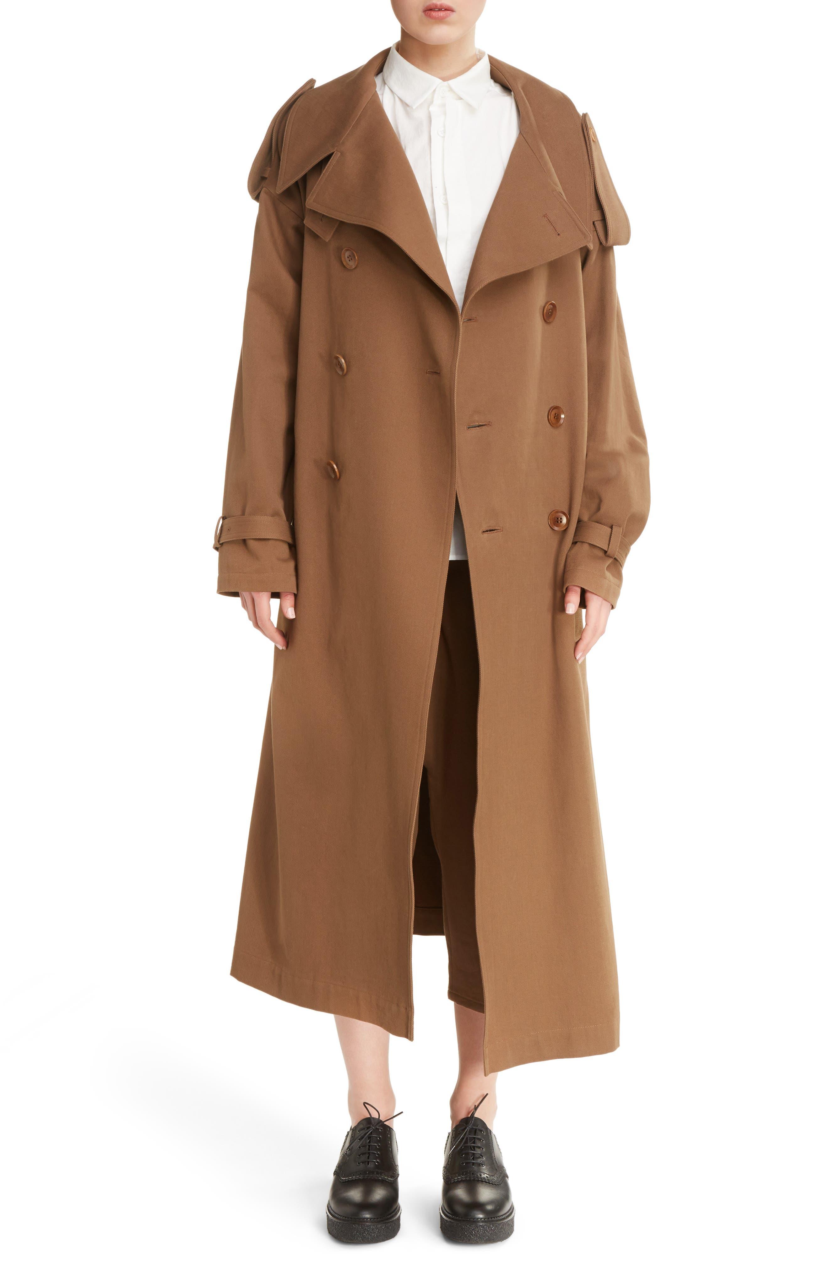 Ys by Yohji Yamamoto U Double Breasted Trench Coat