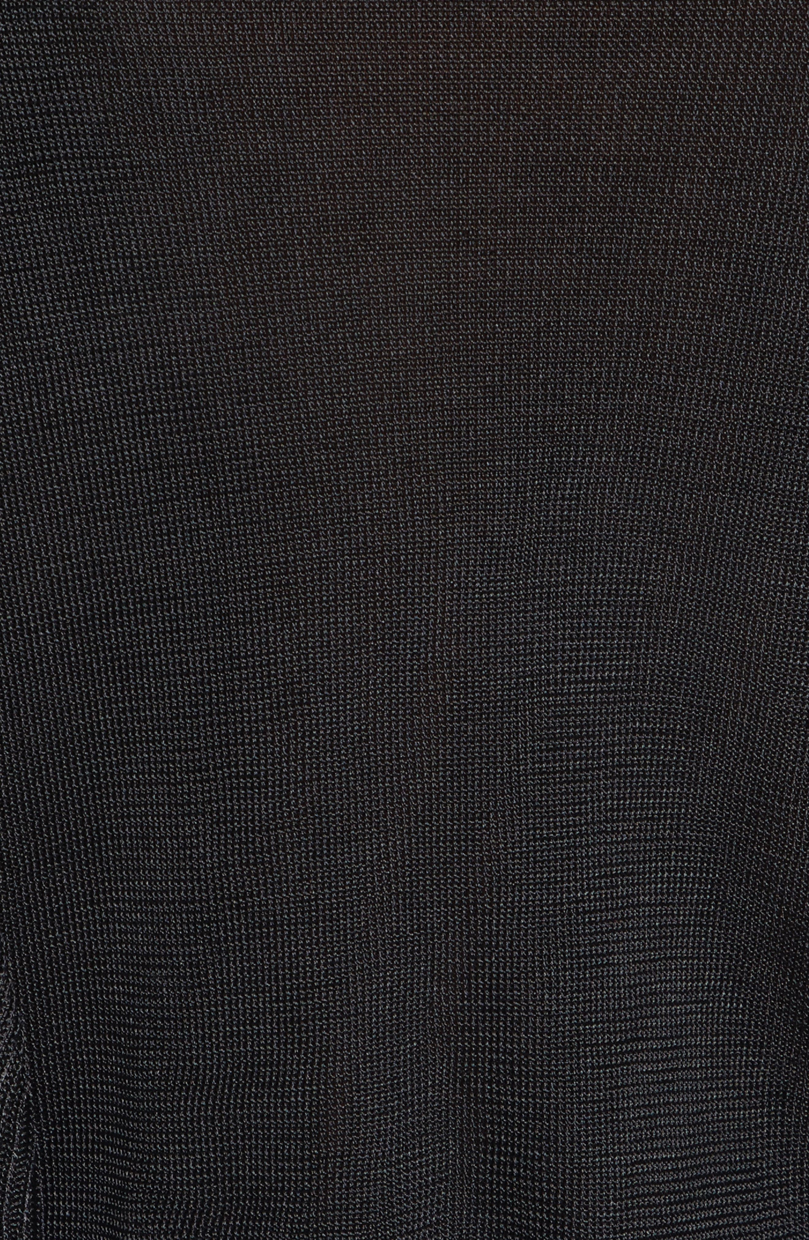 Lou Ruffle Sweater,                             Alternate thumbnail 5, color,                             Black
