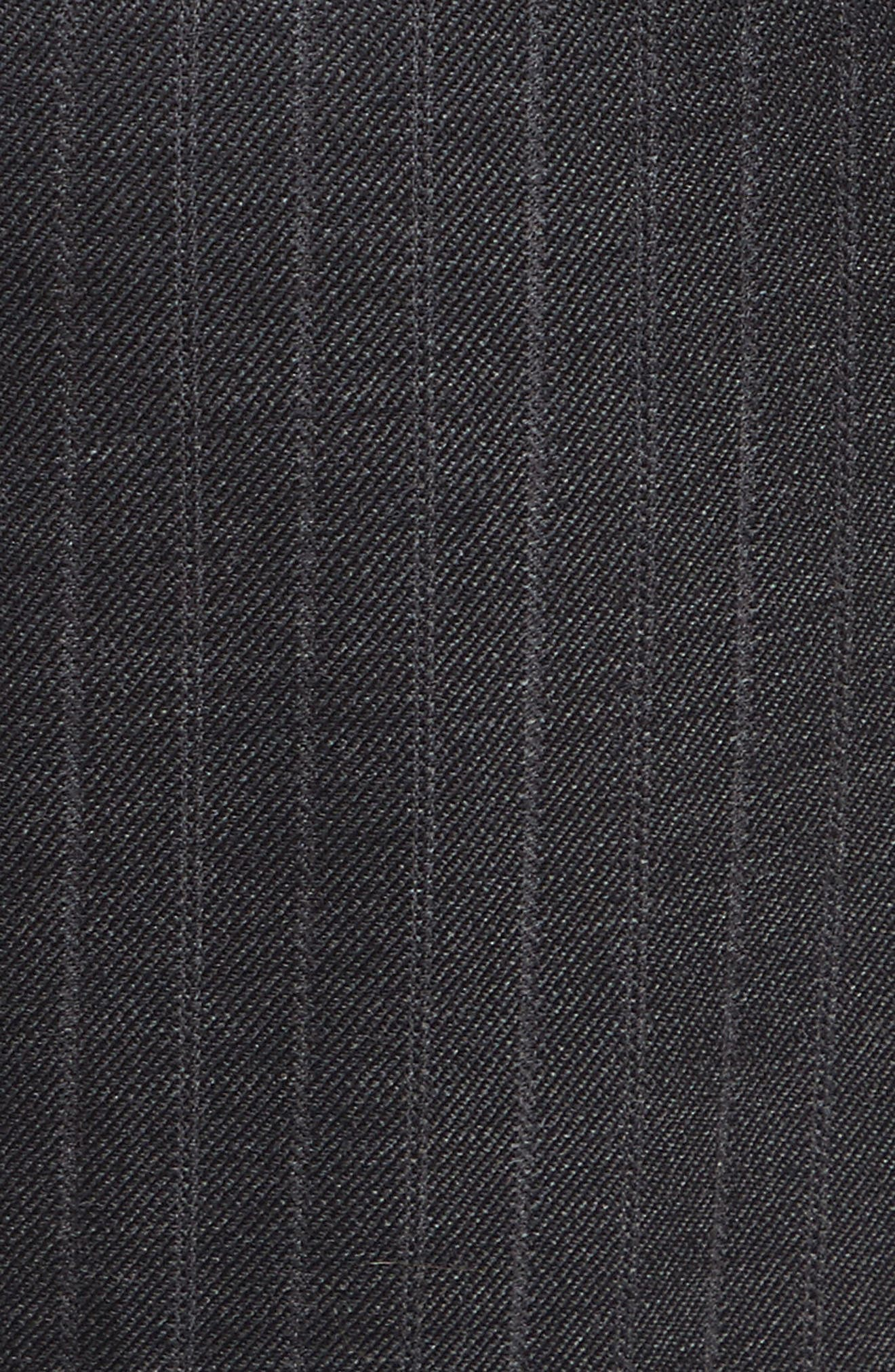 Sia Pinstripe Italian Stretch Wool Trousers,                             Alternate thumbnail 6, color,                             Grey Stripe