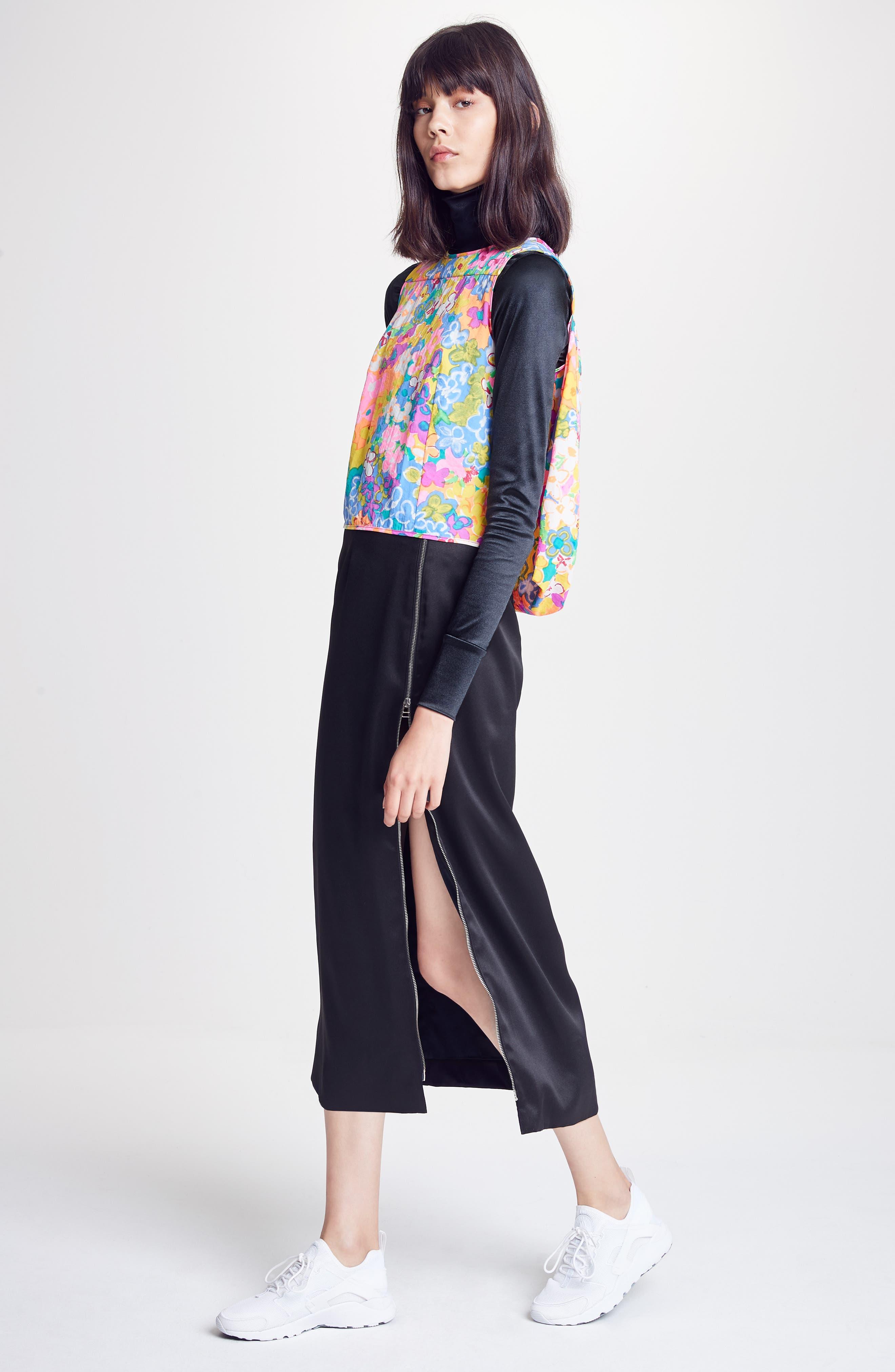 Alternate Image 2  - Eckhaus Latta Side Zip Midi Skirt