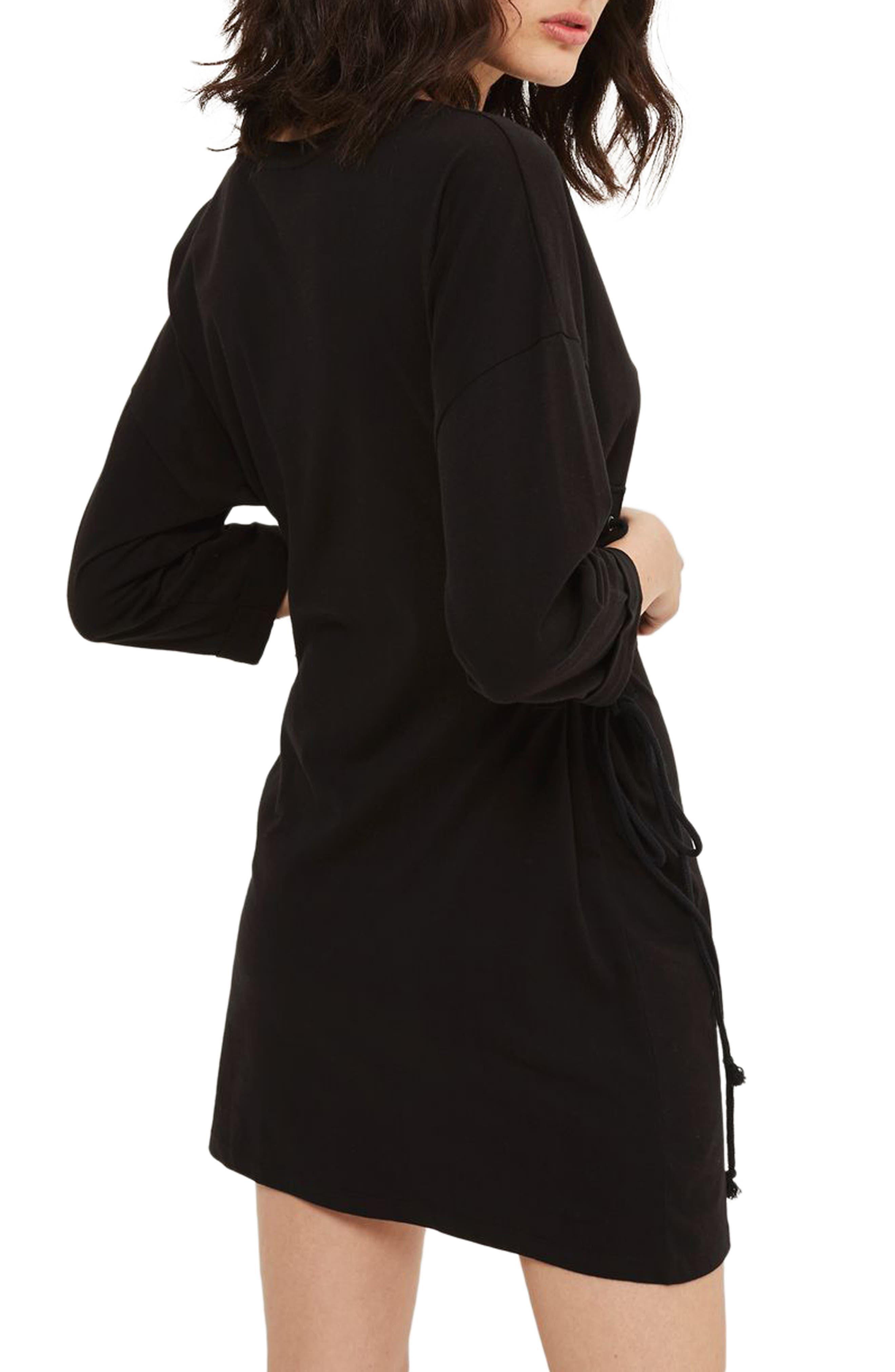 Alternate Image 2  - Topshop Lace-Up Side Tunic Dress
