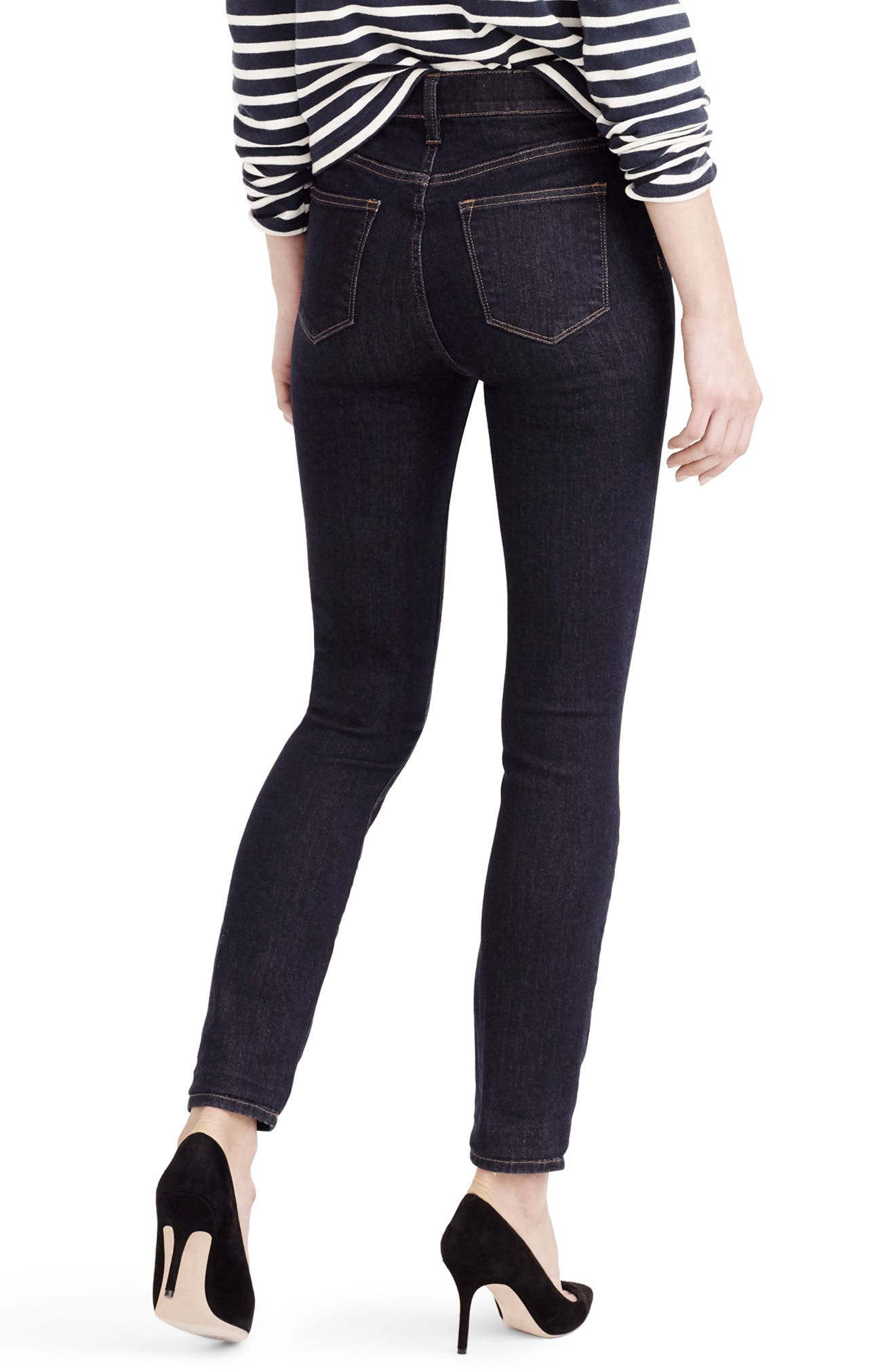 J.Crew Lookout High Rise Jeans,                             Alternate thumbnail 2, color,                             Resin Wash