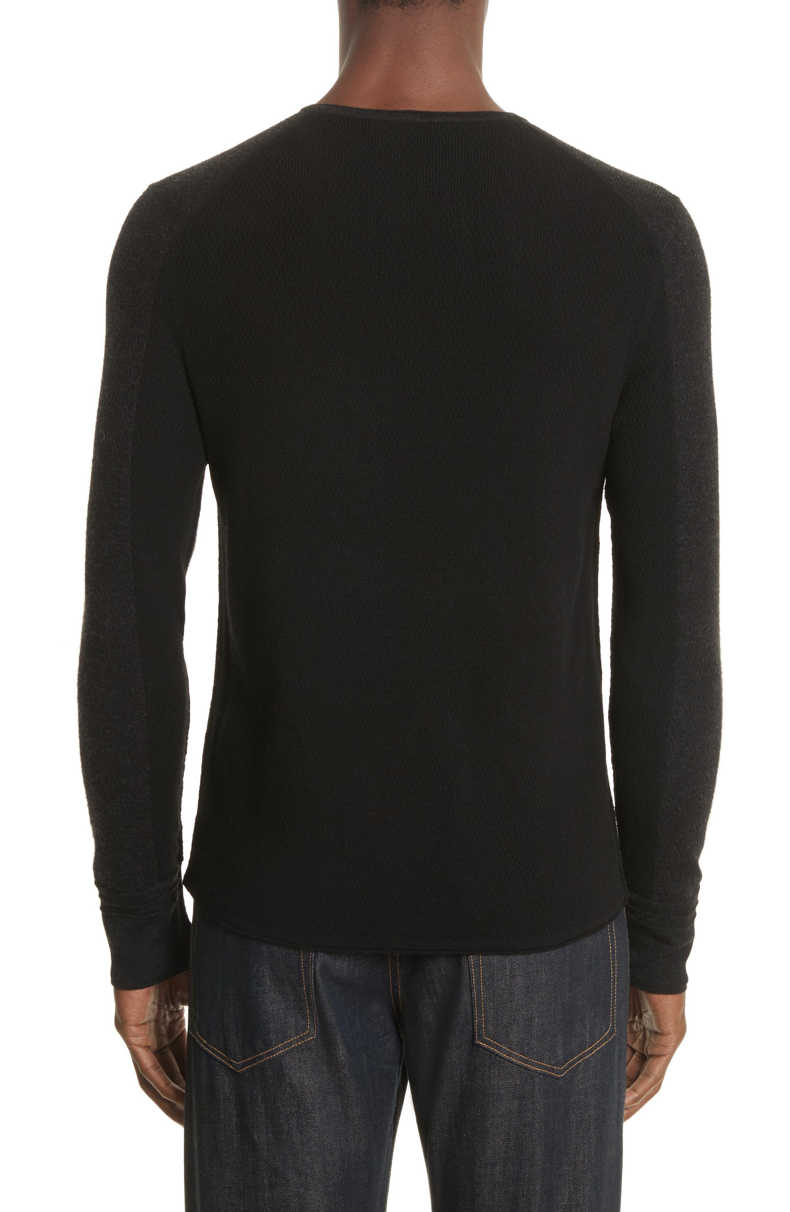 Gregory Crewneck Sweater,                             Alternate thumbnail 2, color,                             Black