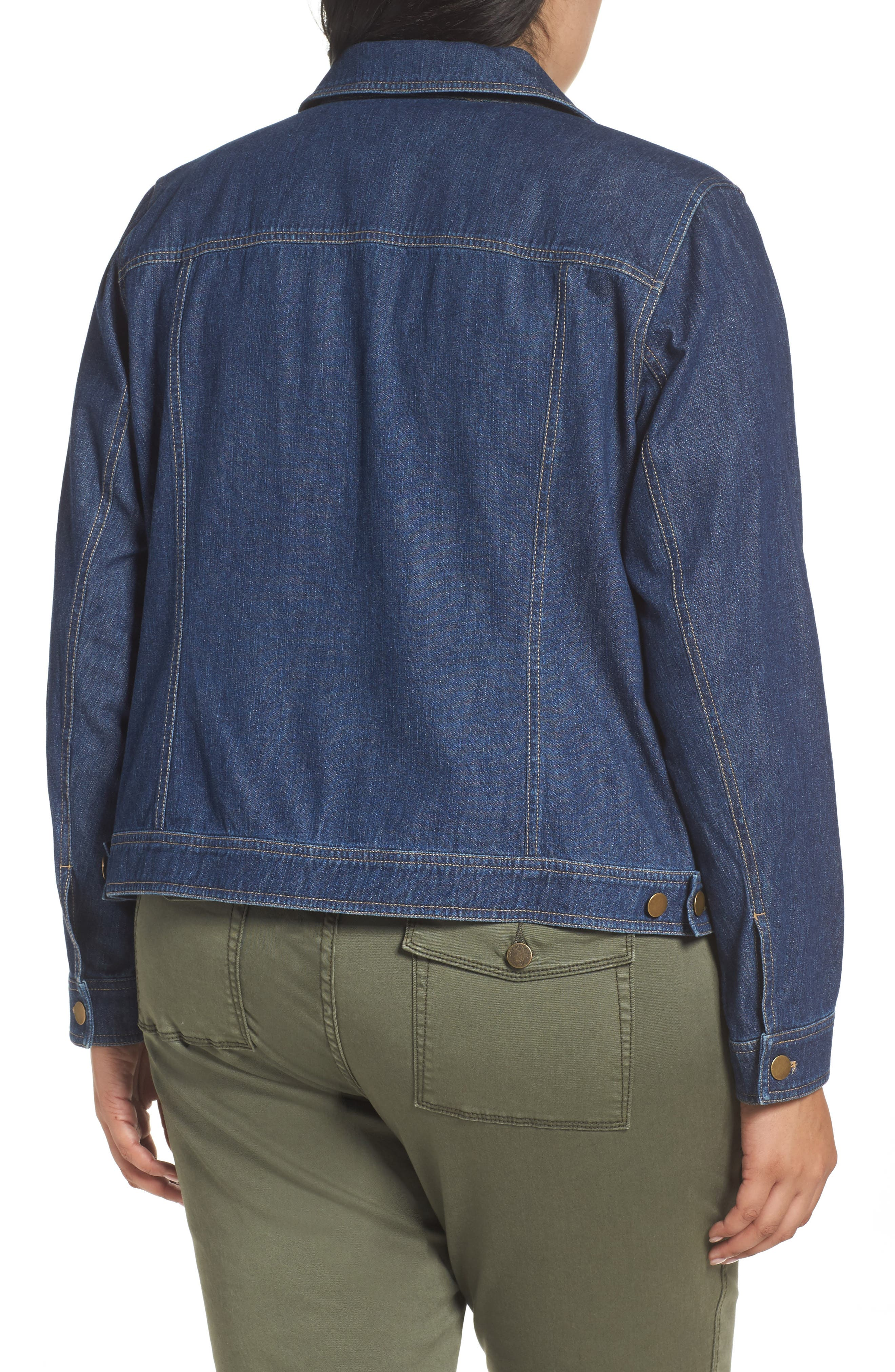 Alternate Image 2  - Sejour Denim Jacket (Plus Size)