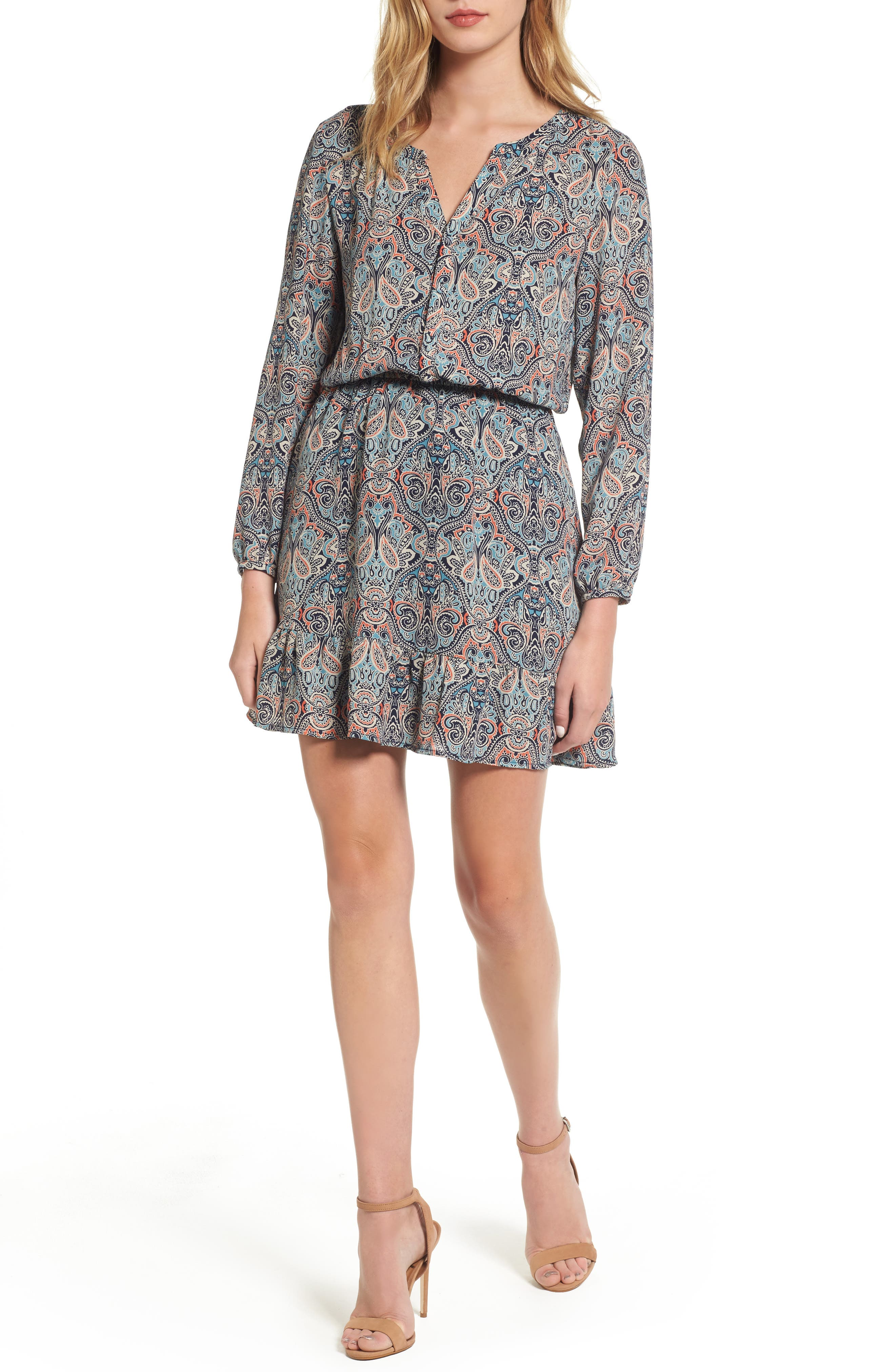 cupcakes and cashmere Selma Paisley Blouson Dress