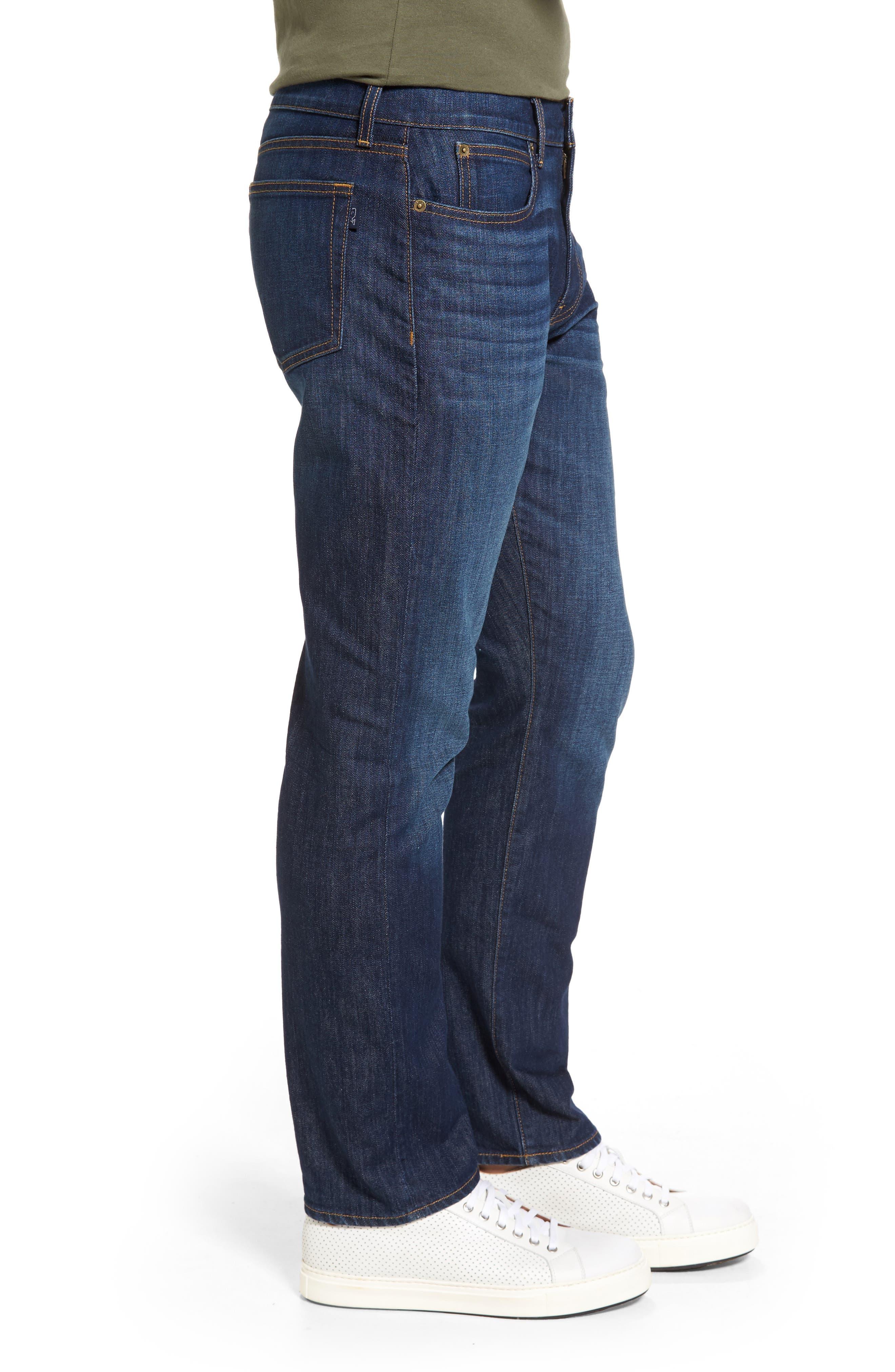 Slim Straight Leg Jeans,                             Alternate thumbnail 3, color,                             Hull Blue