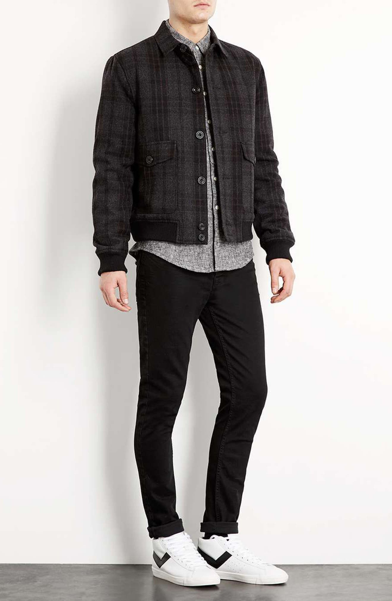 Alternate Image 2  - Topman Overdyed Stretch Skinny Jeans