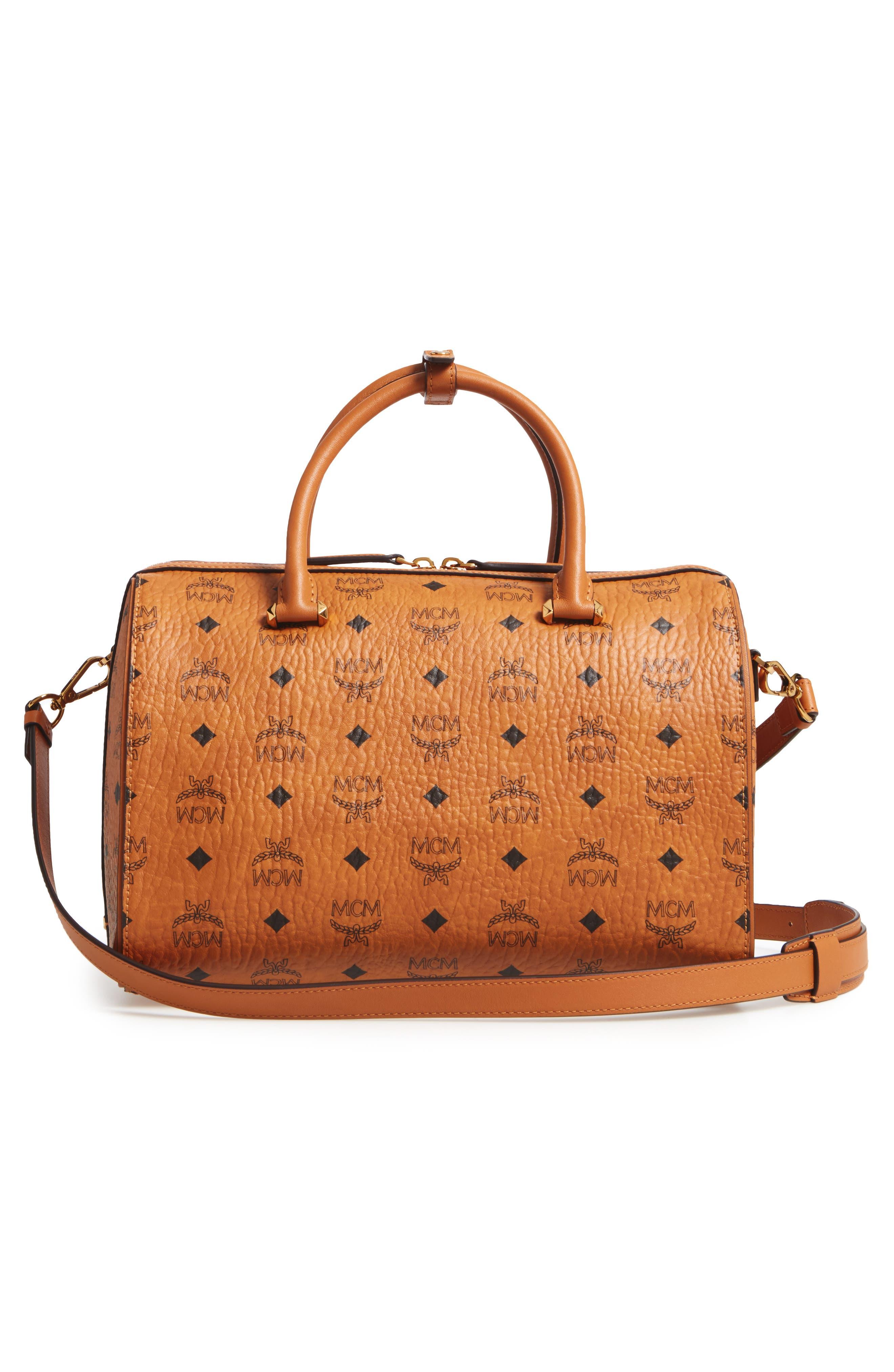 Essential Boston Bag,                             Alternate thumbnail 3, color,                             Cognac