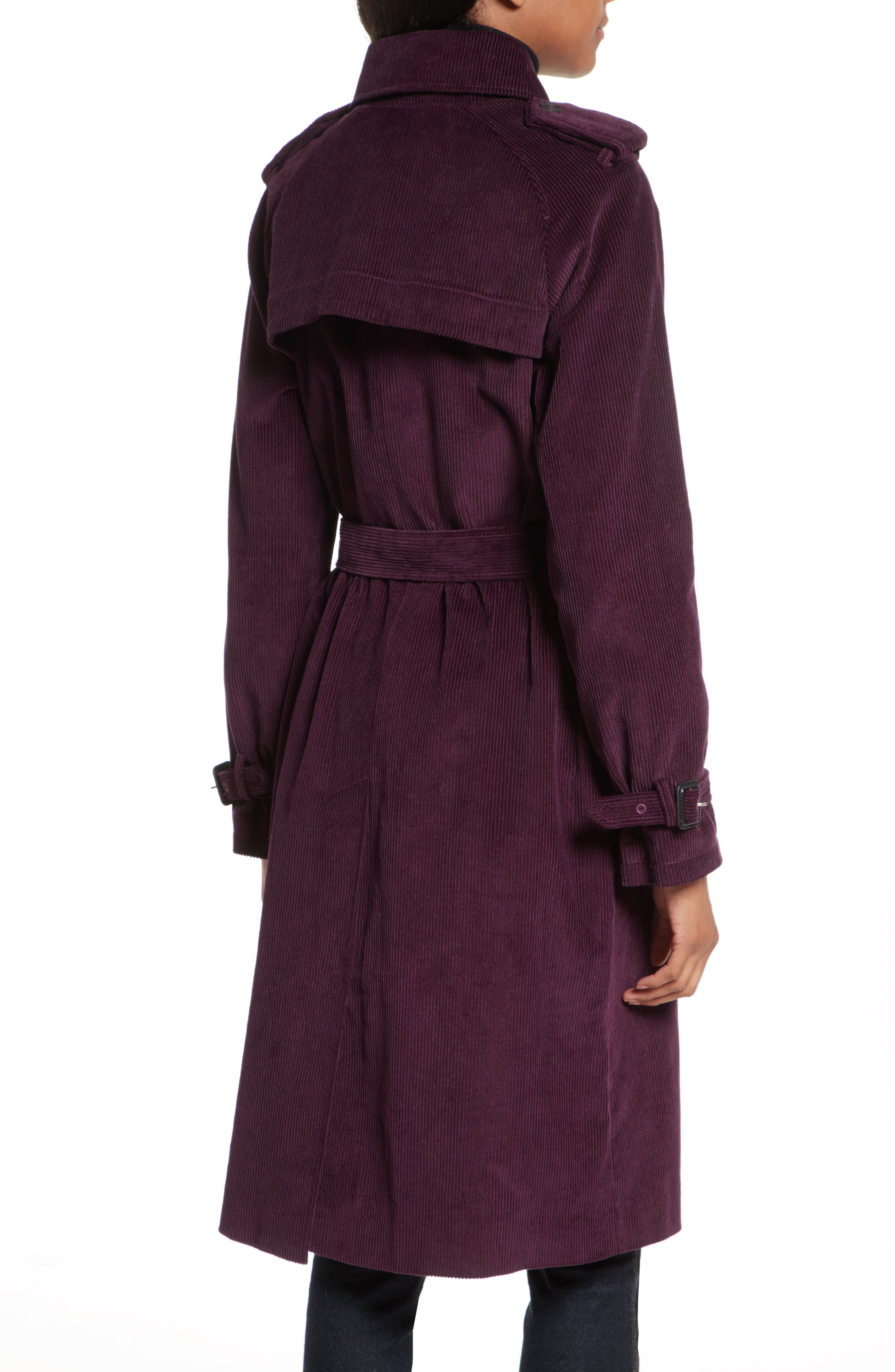 Alternate Image 2  - Rebecca Minkoff Ferry Double Breasted Corduroy Trench Coat