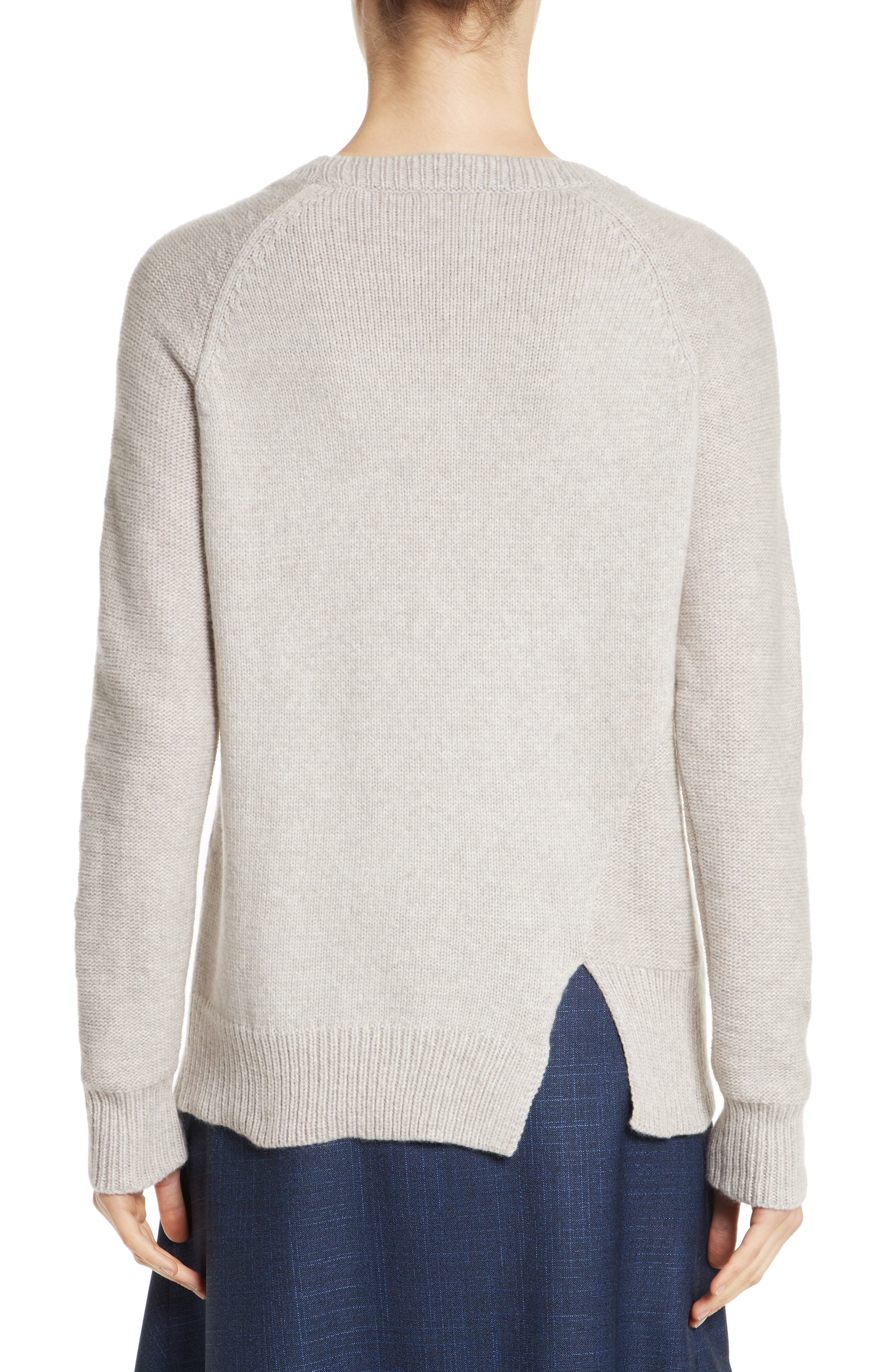 Asymmetrical Wide Neck Sweater,                             Alternate thumbnail 2, color,                             Sand