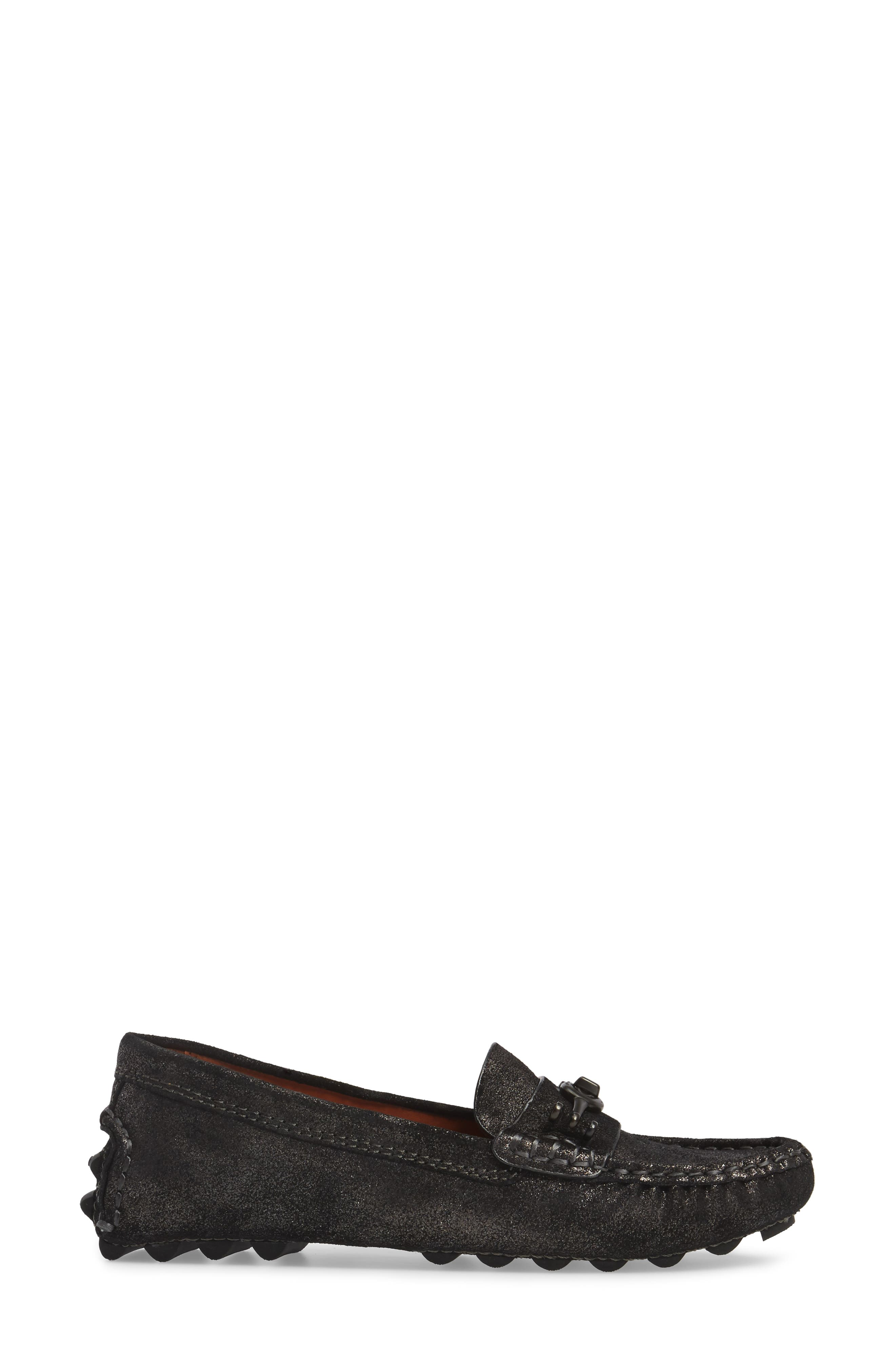 Crosby Driving Loafer,                             Alternate thumbnail 3, color,                             Anthracite Suede