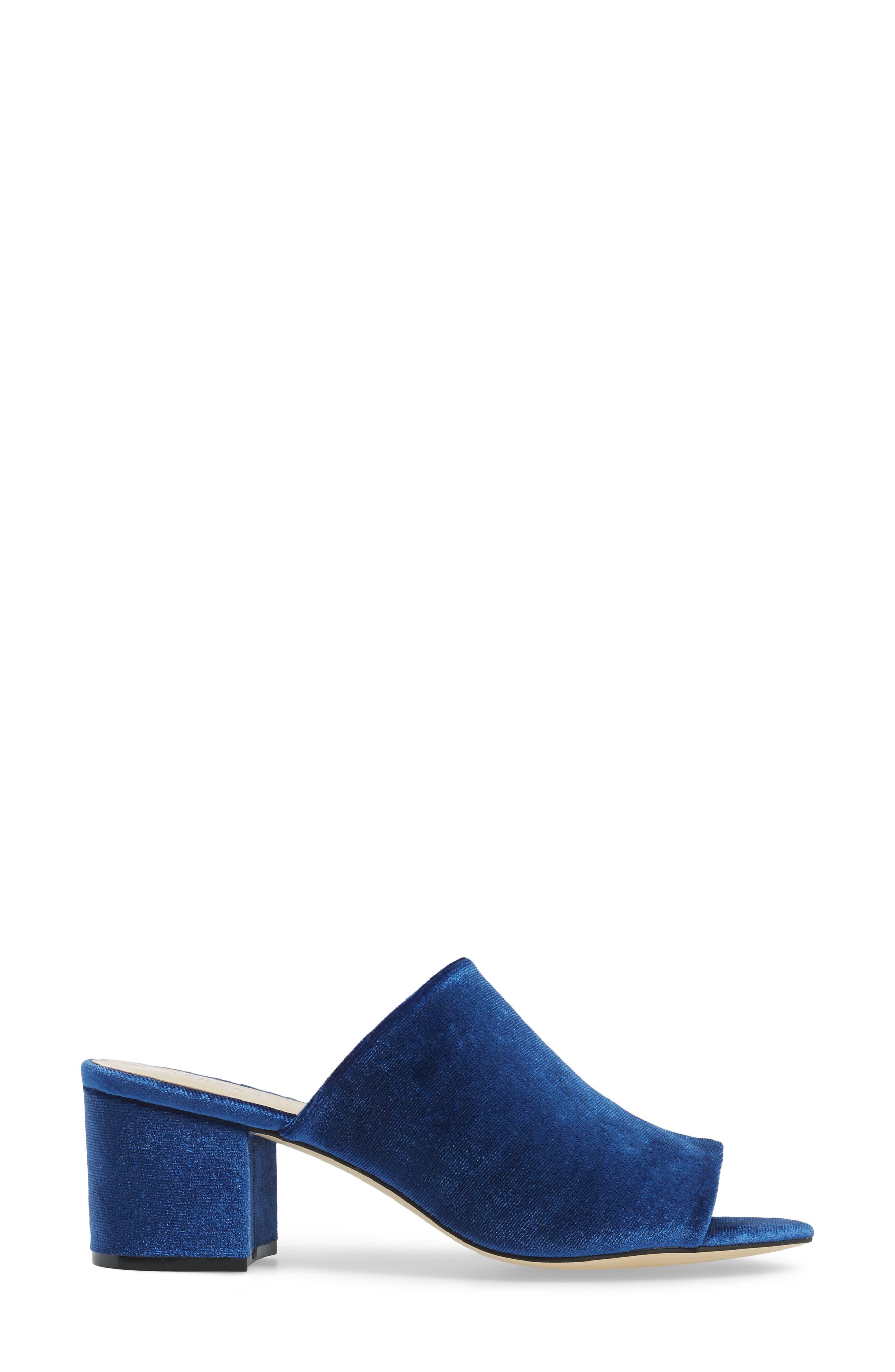 Robyne Slide Sandal,                             Alternate thumbnail 3, color,                             Navy Velvet