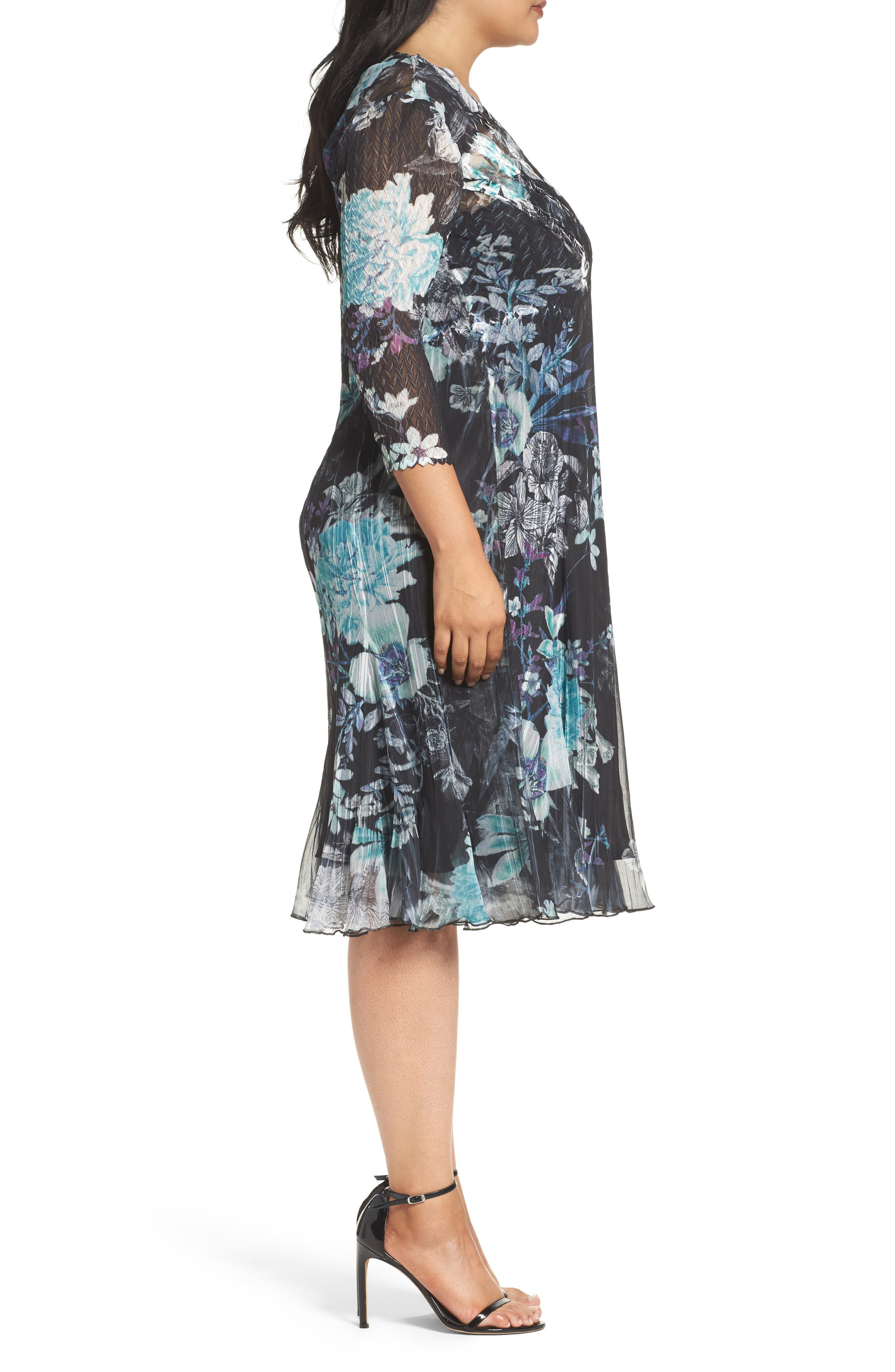 Alternate Image 3  - Komarov Print Chiffon Dress (Plus Size)