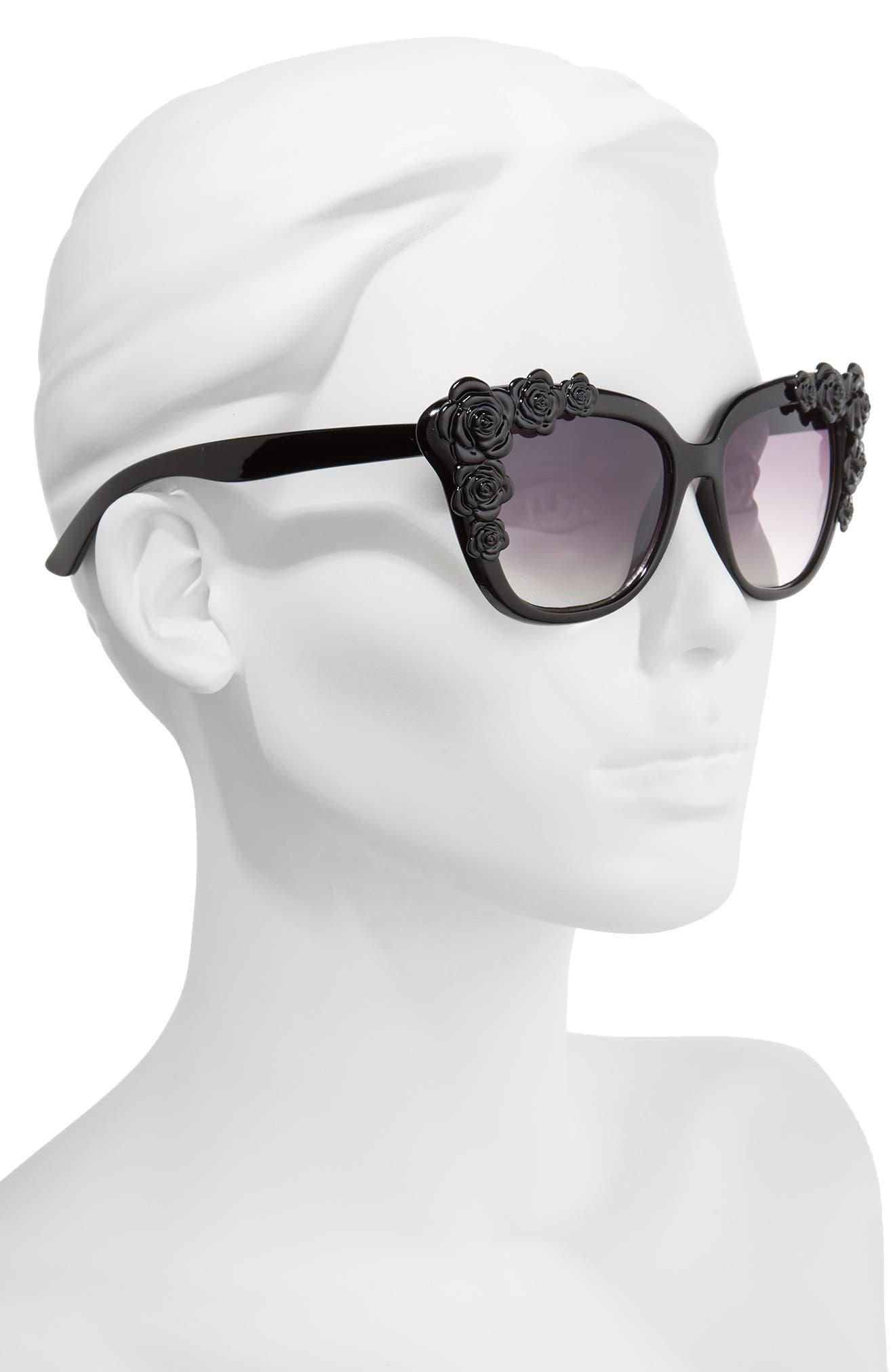 Alternate Image 2  - BP. 52mm Floral Square Sunglasses