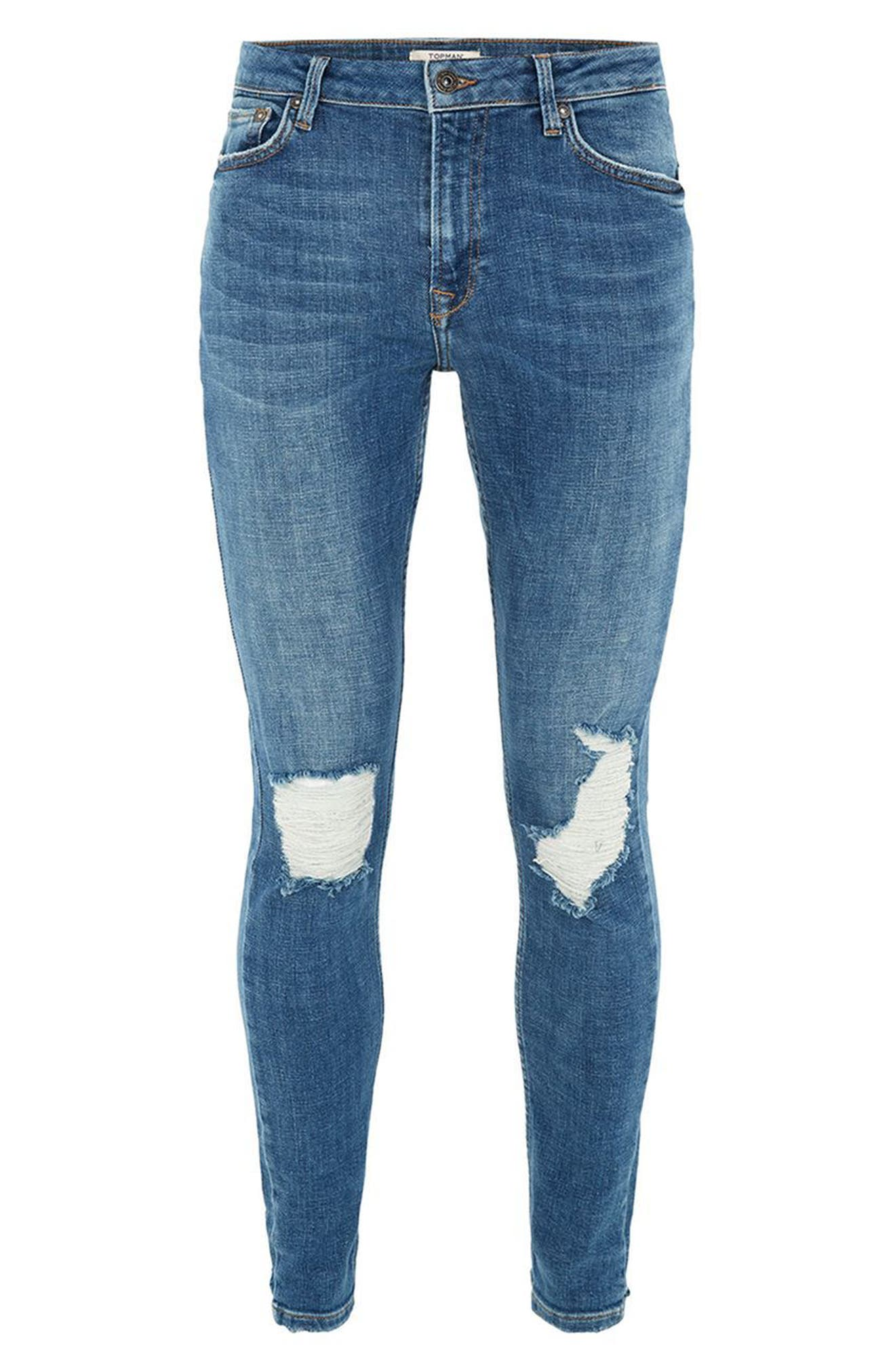 Alternate Image 4  - Topman Arthur Ripped Stretch Skinny Jeans