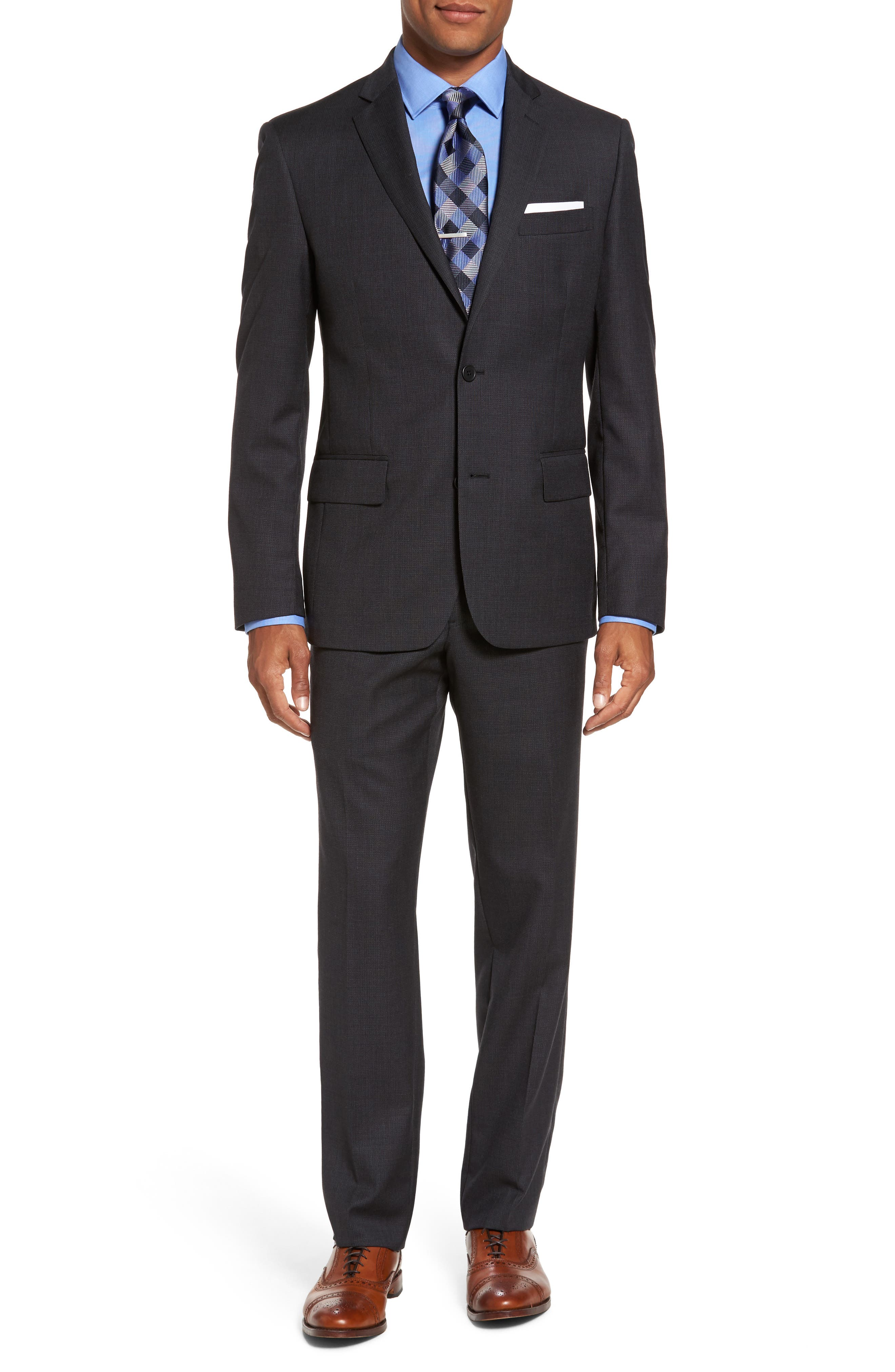 Classic Fit Solid Wool Suit,                             Main thumbnail 1, color,                             Charcoal