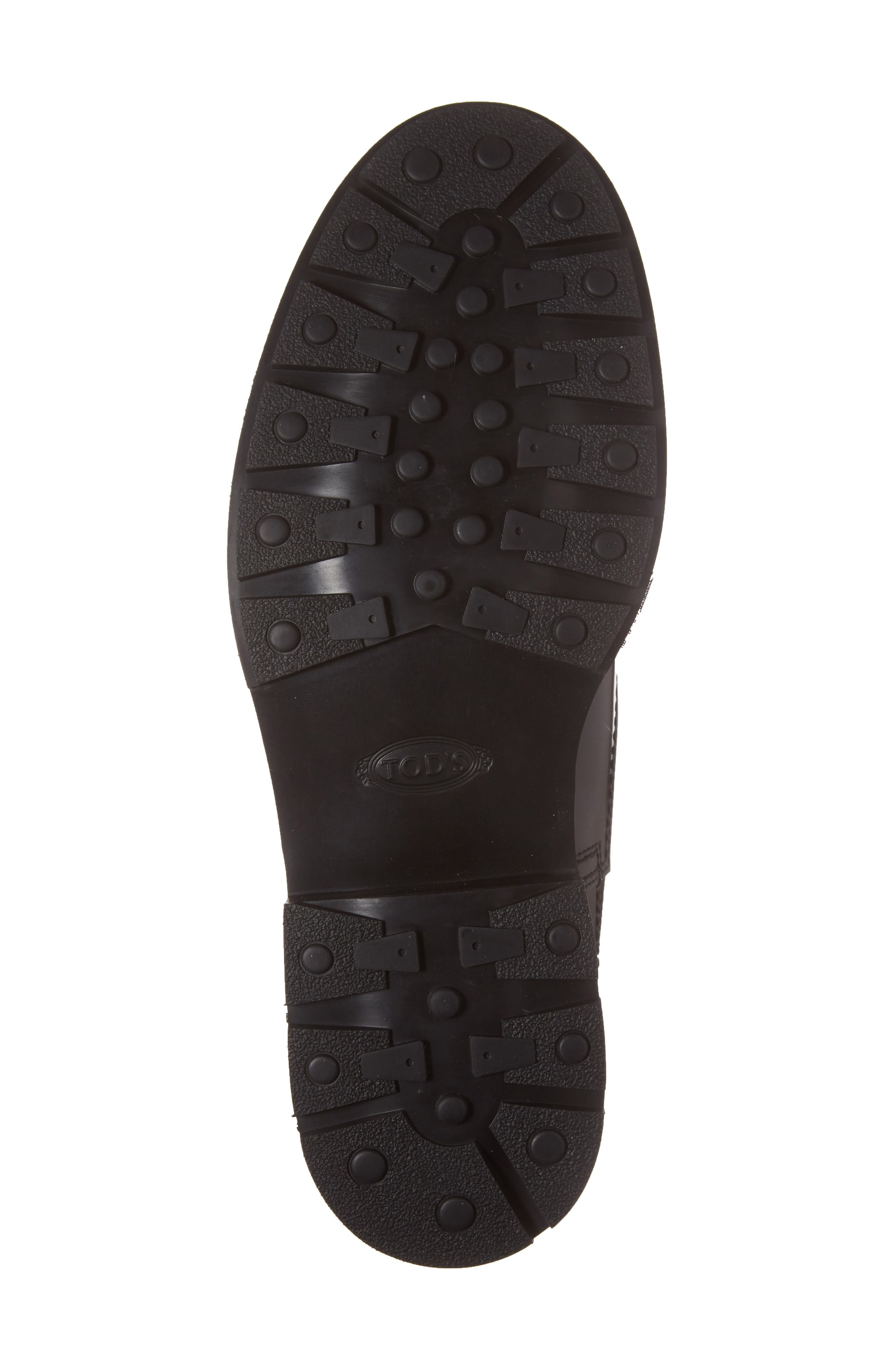 Plain Toe Derby,                             Alternate thumbnail 6, color,                             Black Leather