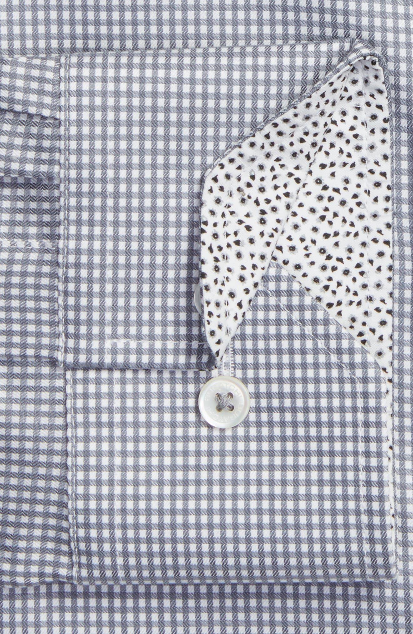 Alternate Image 2  - Bugatchi Trim Fit Check Pattern Dress Shirt