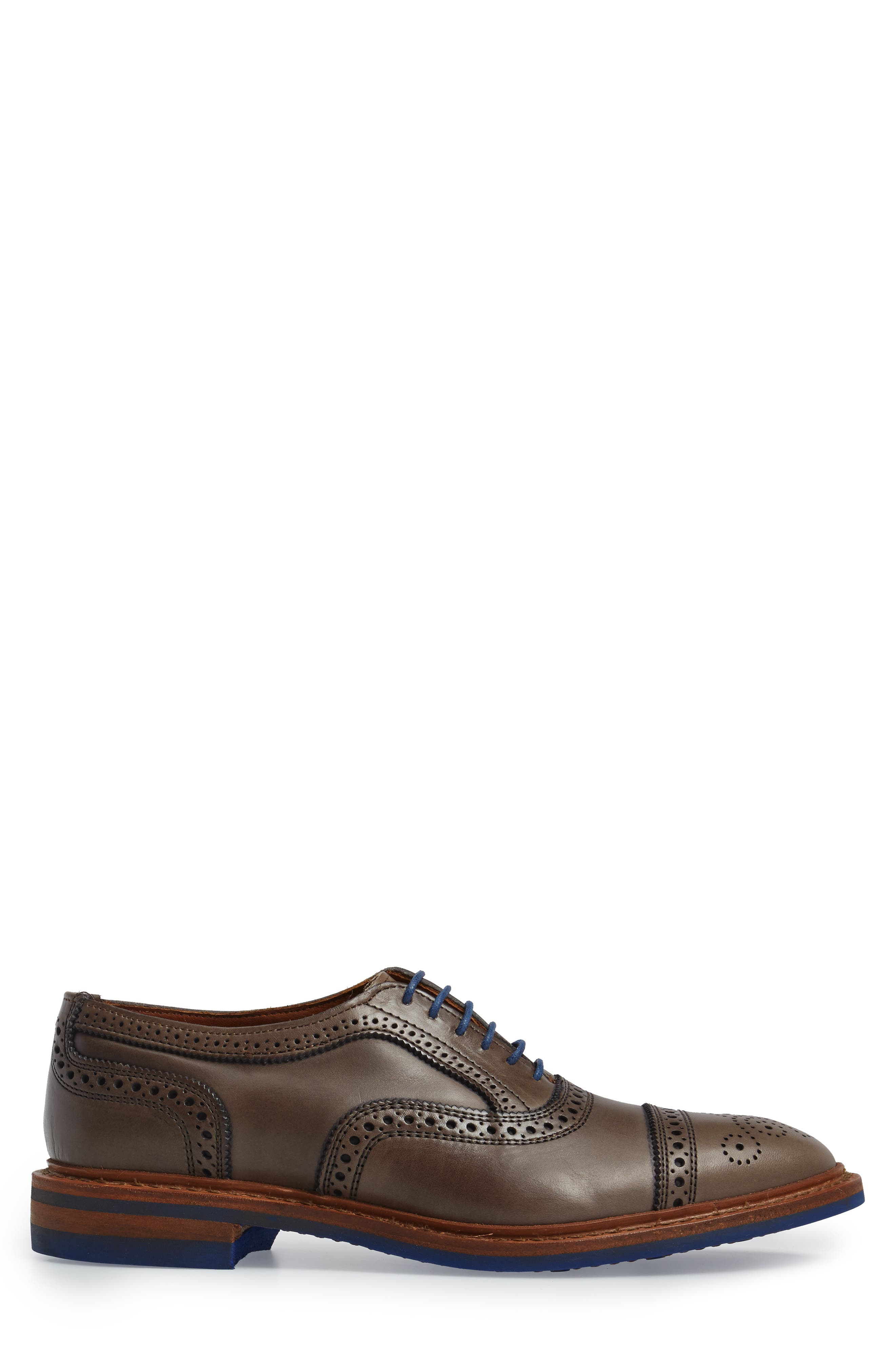 'Strandmok' Cap Toe Oxford,                             Alternate thumbnail 3, color,                             Grey Leather